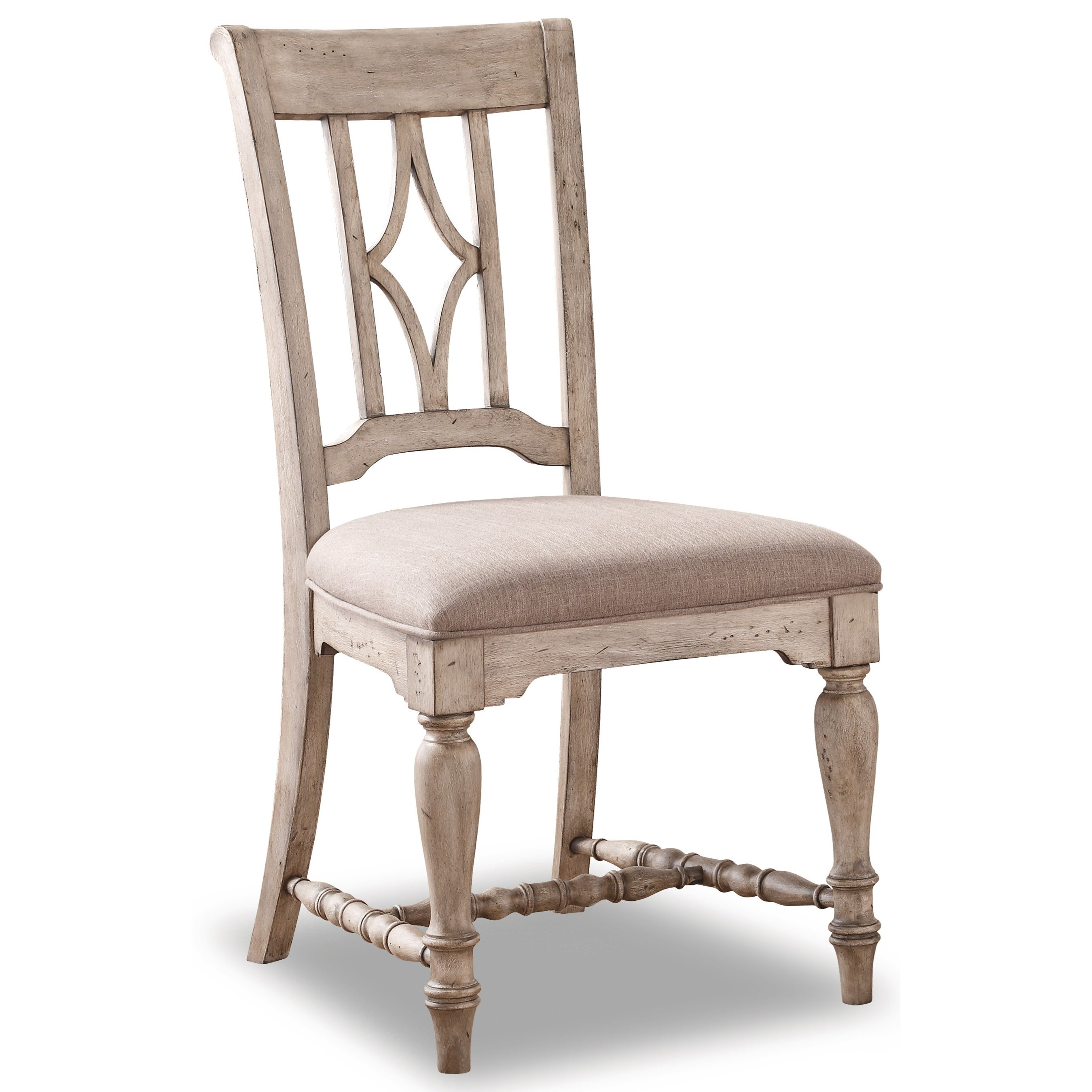 Flexsteel Wynwood Collection Plymouth W1147 840 Dining Side Chair With Upholstered Seat Great