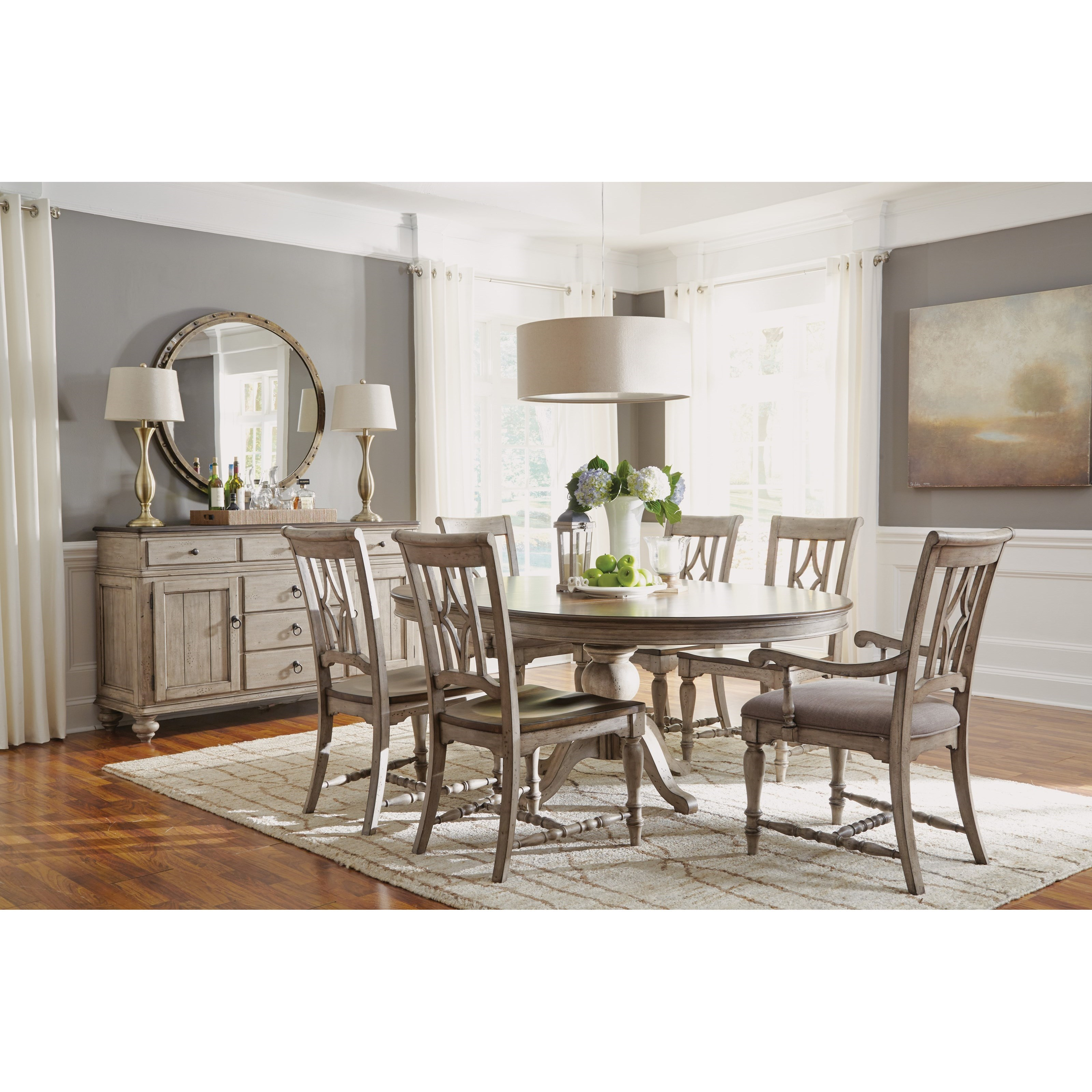 Flexsteel Wynwood Collection Plymouth Cottage Dining Arm Chair With Upholstered Seat Olinde 39 S