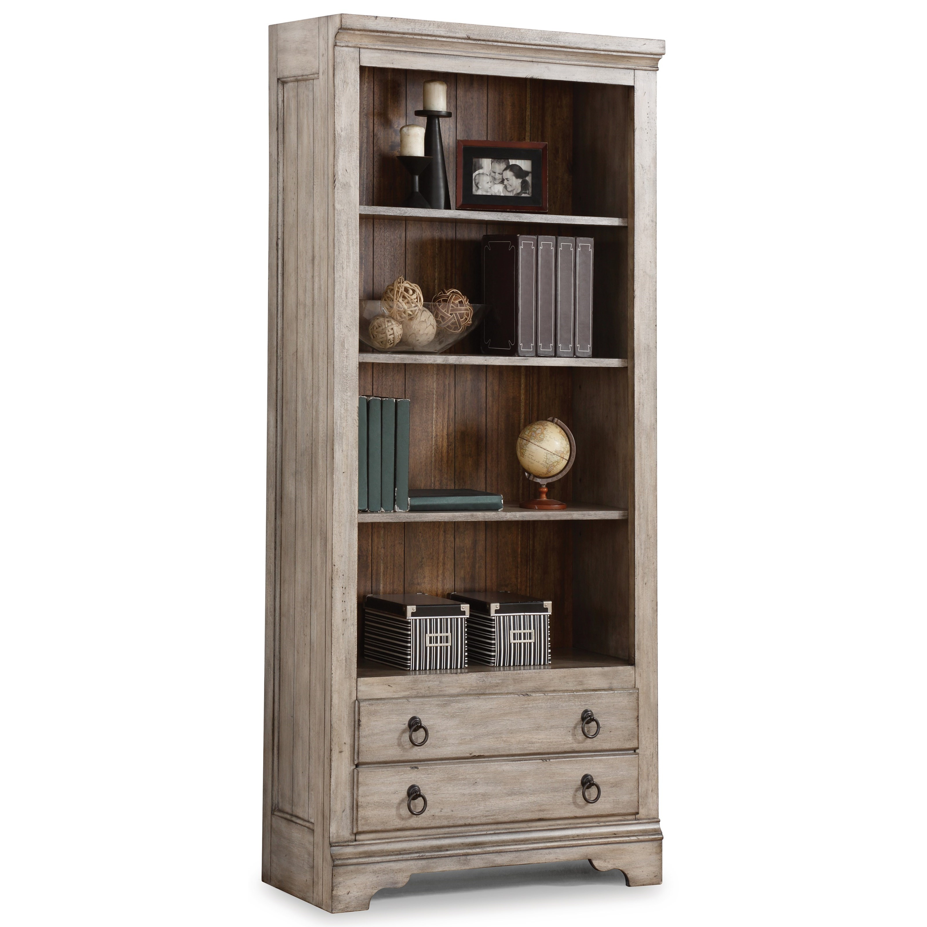Flexsteel Wynwood Collection Plymouth Cottage File Bookcase With Four Open Shelves Olinde 39 S