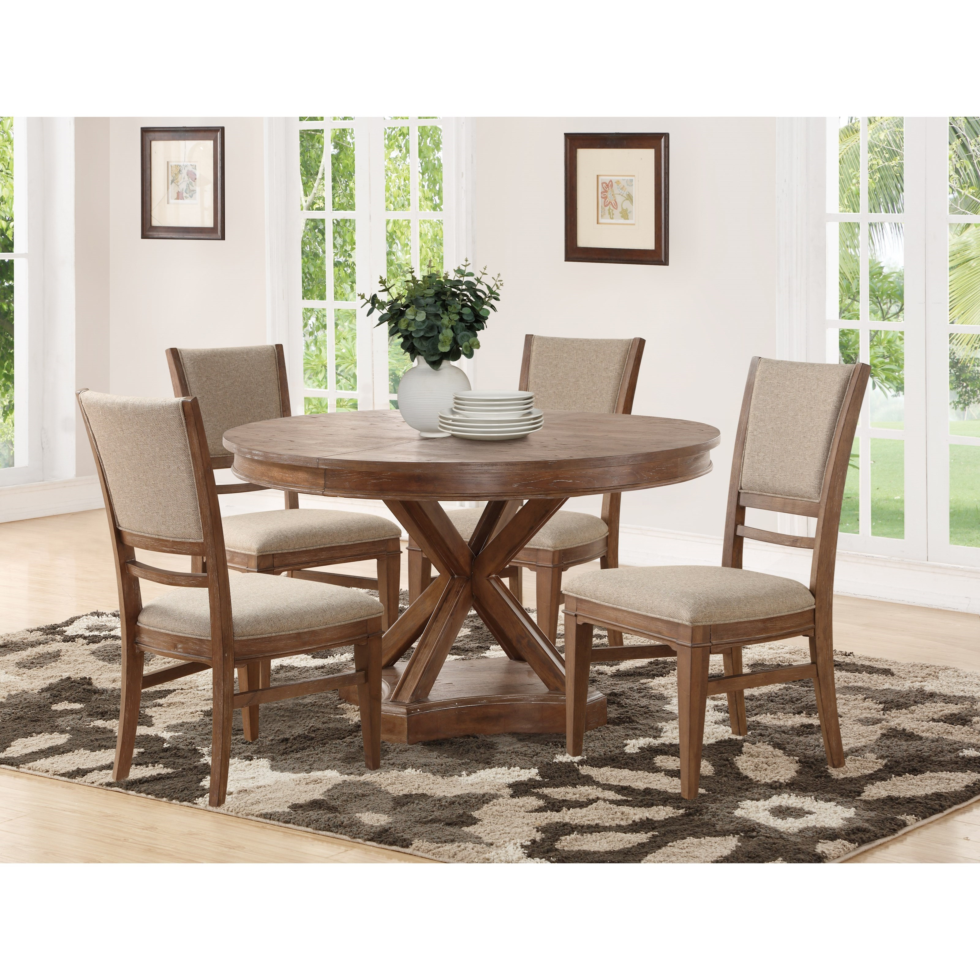 flexsteel wynwood collection hampton dining group rustic 5. Black Bedroom Furniture Sets. Home Design Ideas