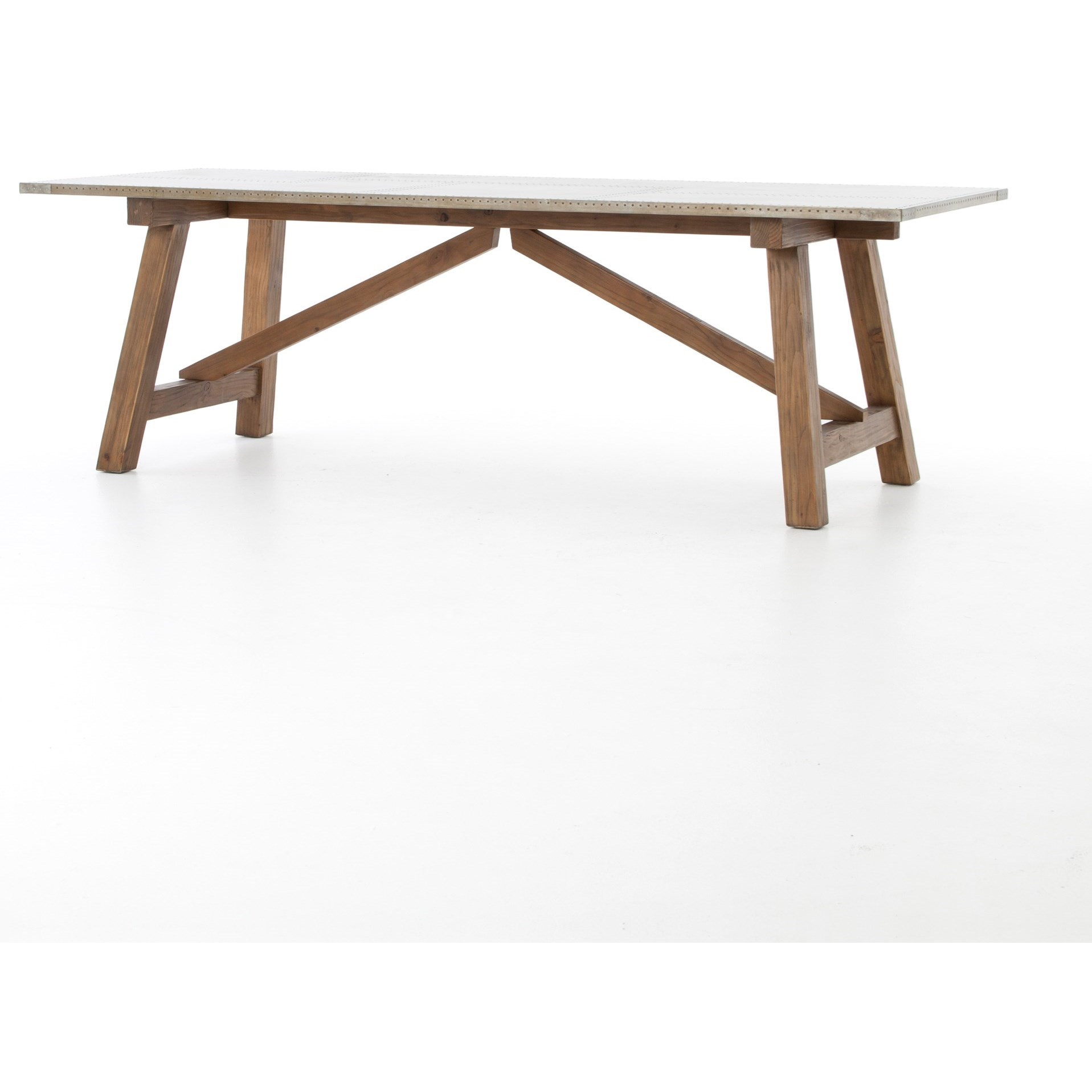 Four hands hughes kirk dining table with spit tack for Dining table tj hughes