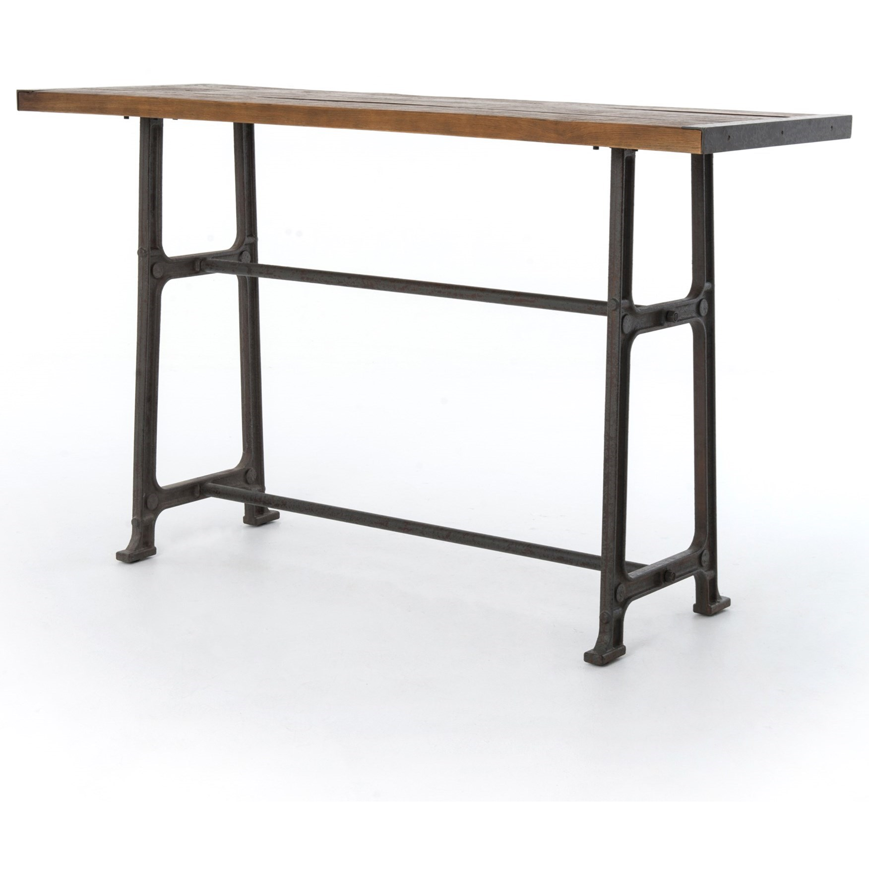 Four hands durham alistair pub table with distressed top for Dining table tj hughes