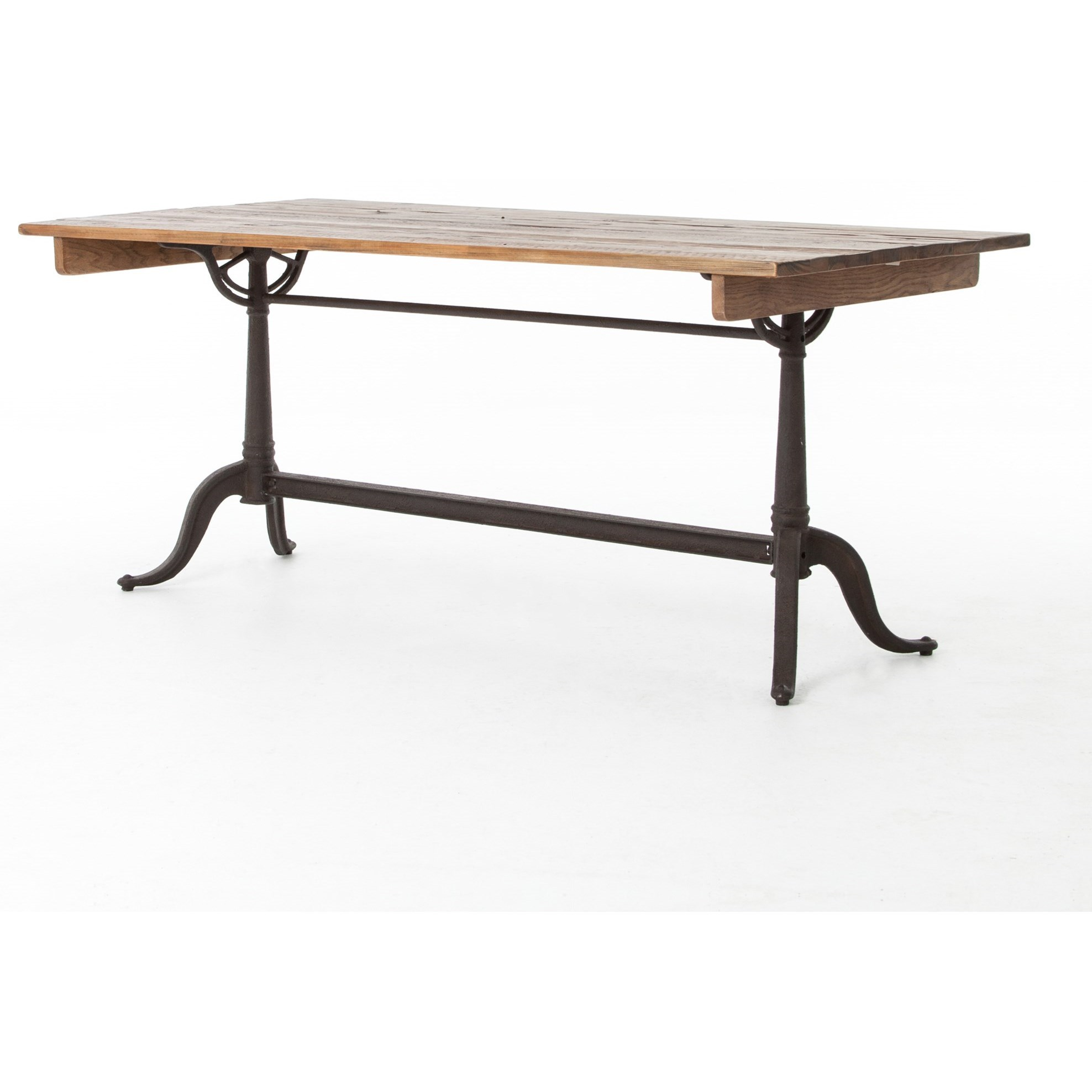 Four hands hughes parisian dining table with trestle base for Dining table tj hughes