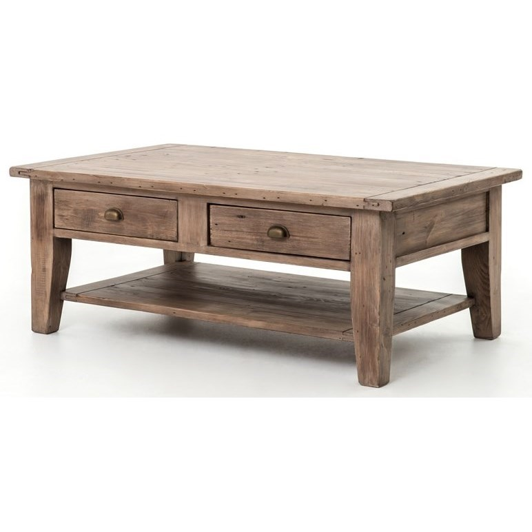 Four Hands Irish Coast Reclaimed Wood Coffee Table Belfort Furniture Cocktail Coffee Tables