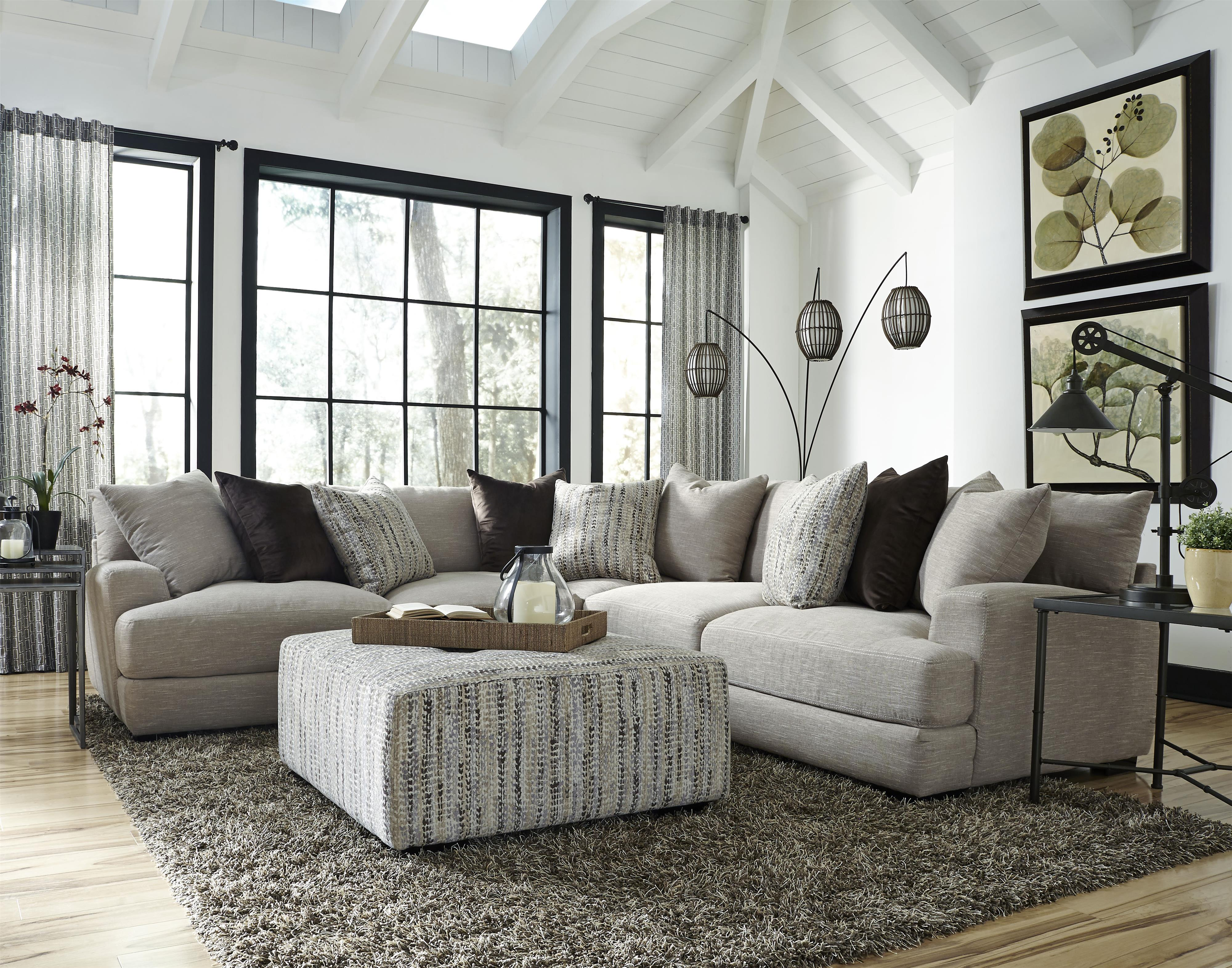 Franklin Hannigan Sectional With 4 Seats Olinde 39 S Furniture Sectional Sofas