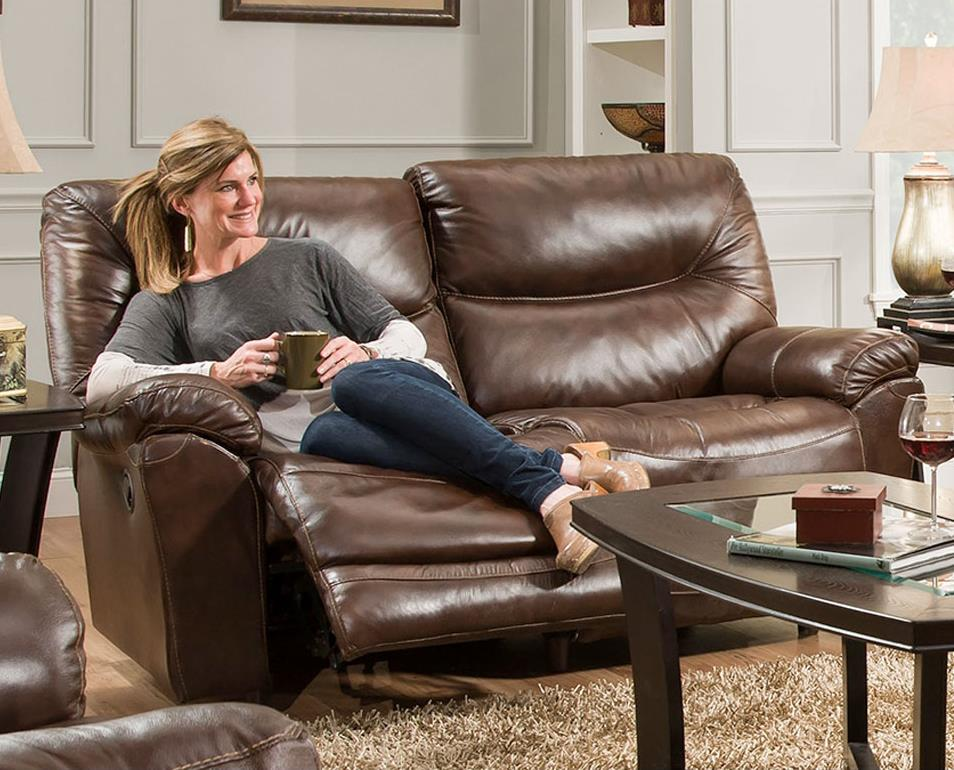 Franklin Calloway Power Reclining Loveseat With Wow Seating System Olinde 39 S Furniture