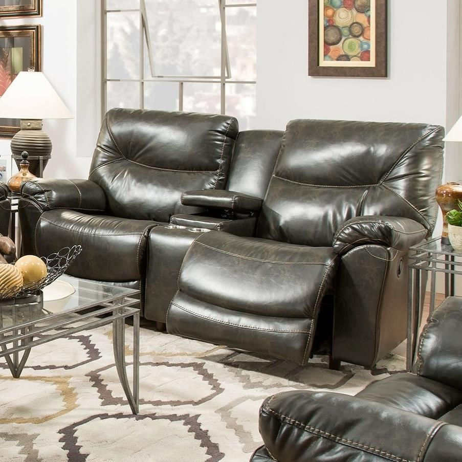 Franklin Calloway 75734 Reclining Console Loveseat John V Schultz Furniture Reclining Love Seats
