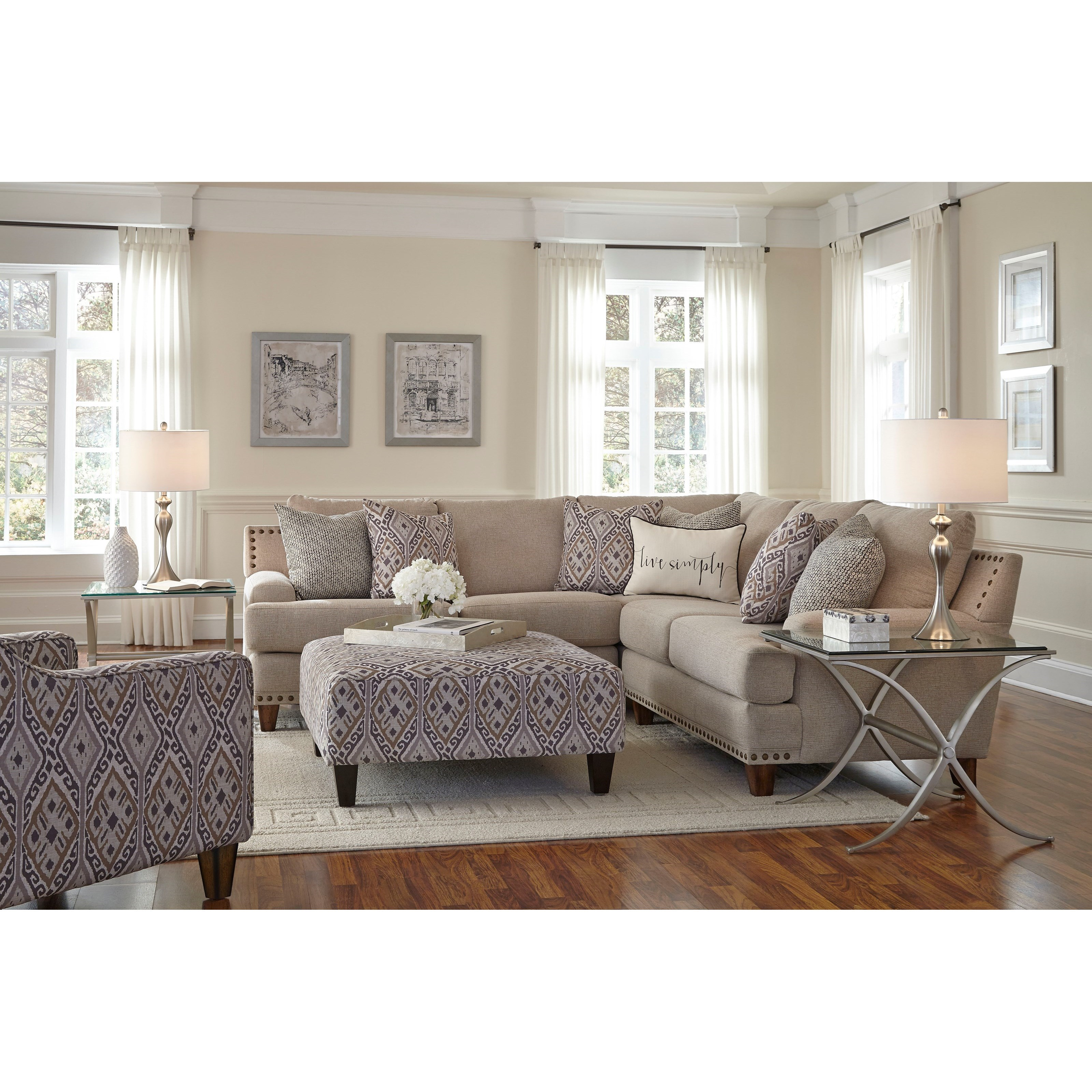 Franklin Anna Stationary Living Room Group Miskelly Furniture Stationary Living Room Groups
