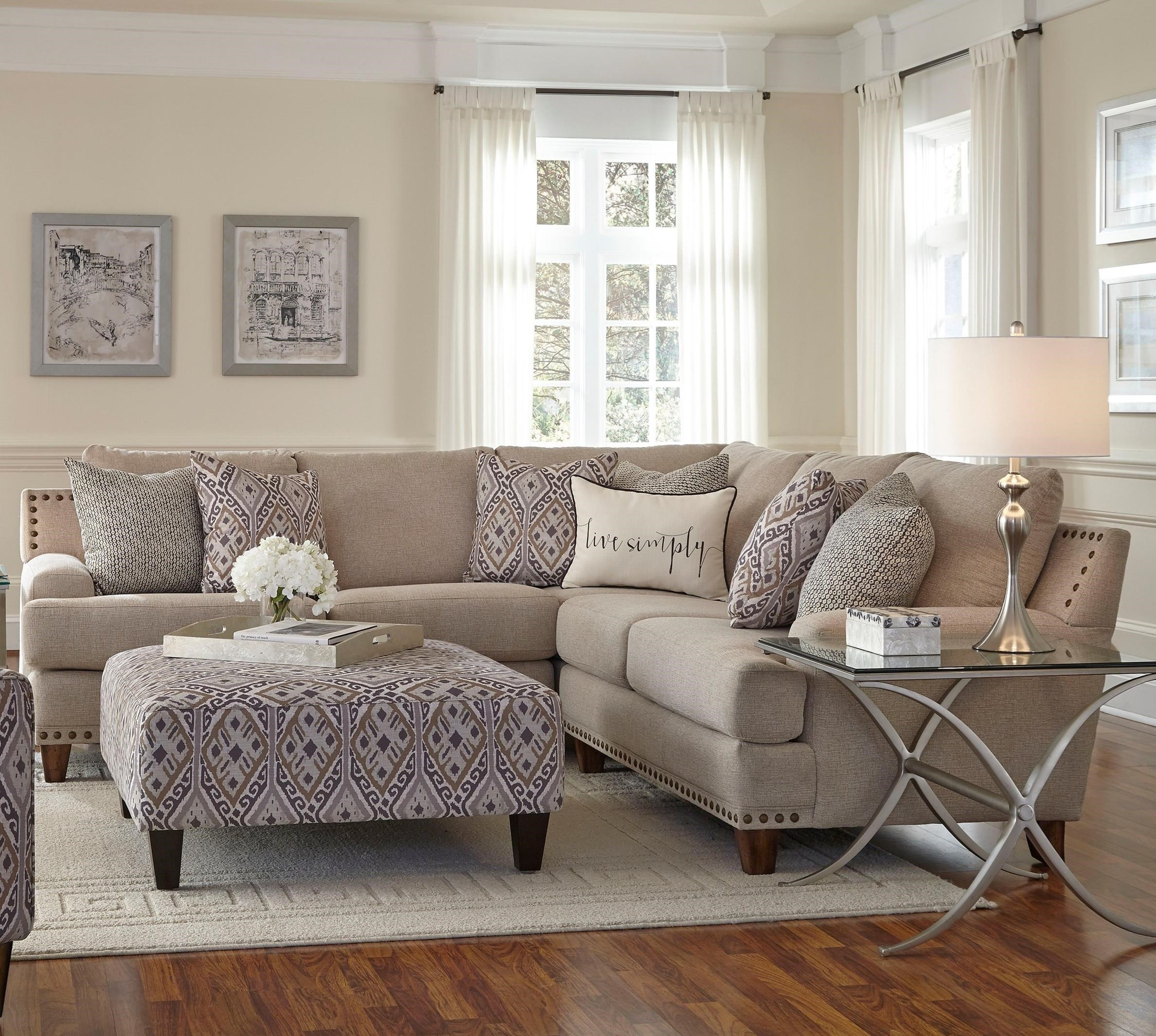 Franklin anna sectional sofa with four seats miskelly furniture sectional sofas for Living room sectional furniture