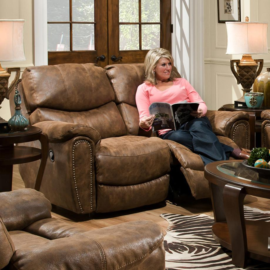 Franklin Richmond Reclining Loveseat With Nail Head Trim Olinde 39 S Furniture Reclining Love Seats