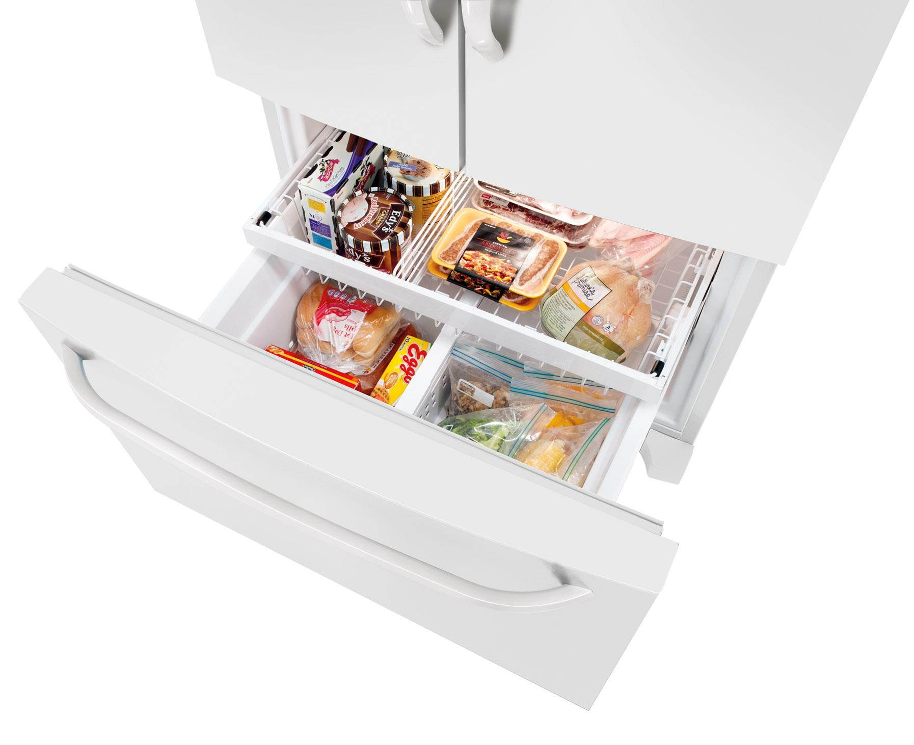 Frigidaire Energy Star 26 7 Cu Ft French Door Refrigerator With Adjustable Interior Storage