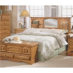 master piece queen pier bed group mueller furniture bookcase beds. Black Bedroom Furniture Sets. Home Design Ideas