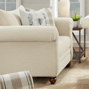 Fusion Furniture 06 00 Farmhouse Style Chair And A Half