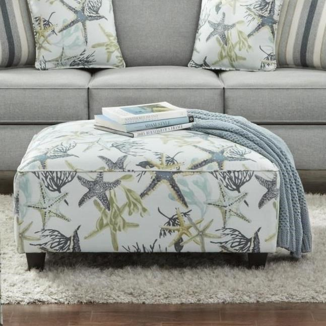 1140 VANDY HEATHER Cocktail Ottoman by Fusion Furniture at Story & Lee Furniture