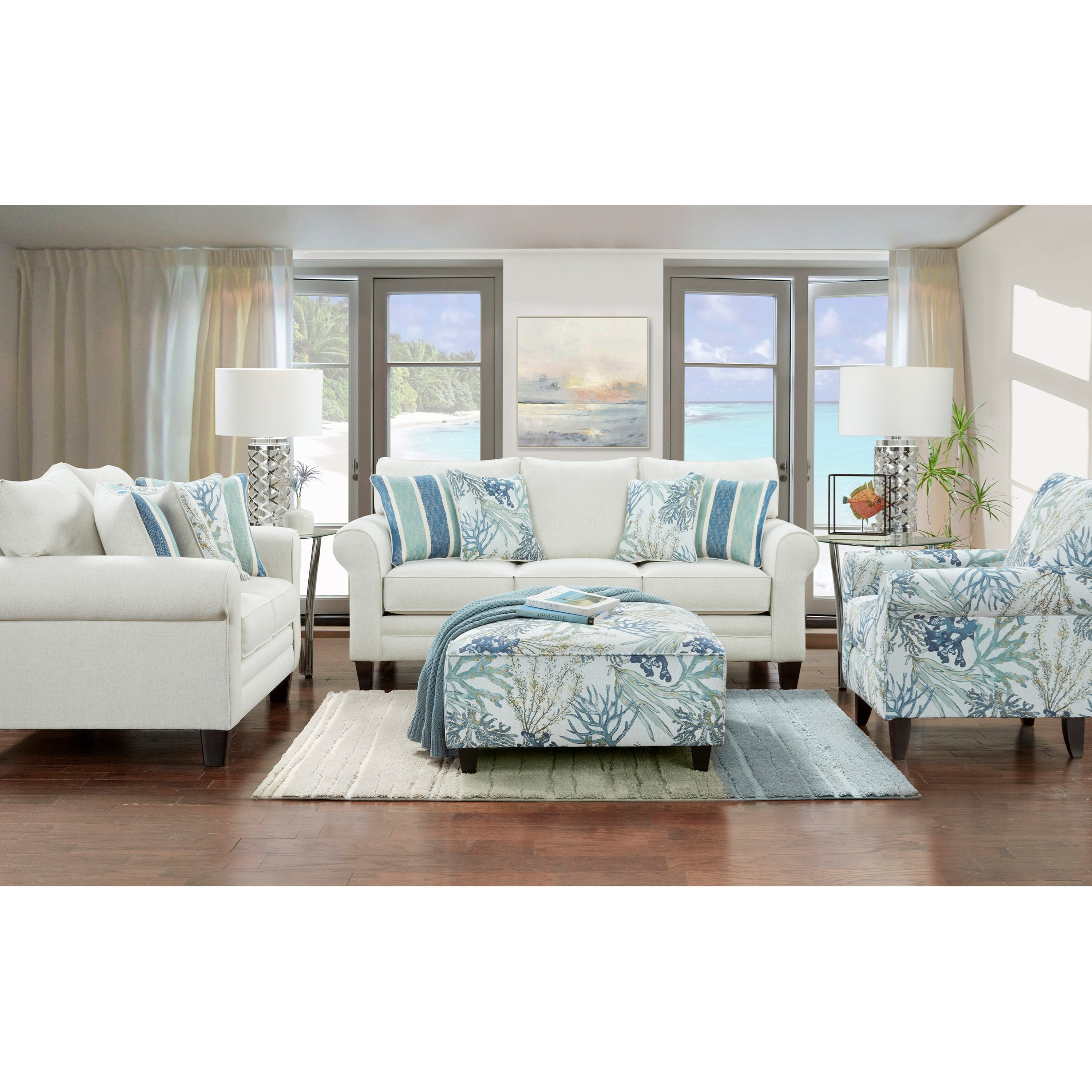 THE 1140 GRANDE GLACIER (REVOLUTION) Living Room Group by Fusion Furniture at Story & Lee Furniture