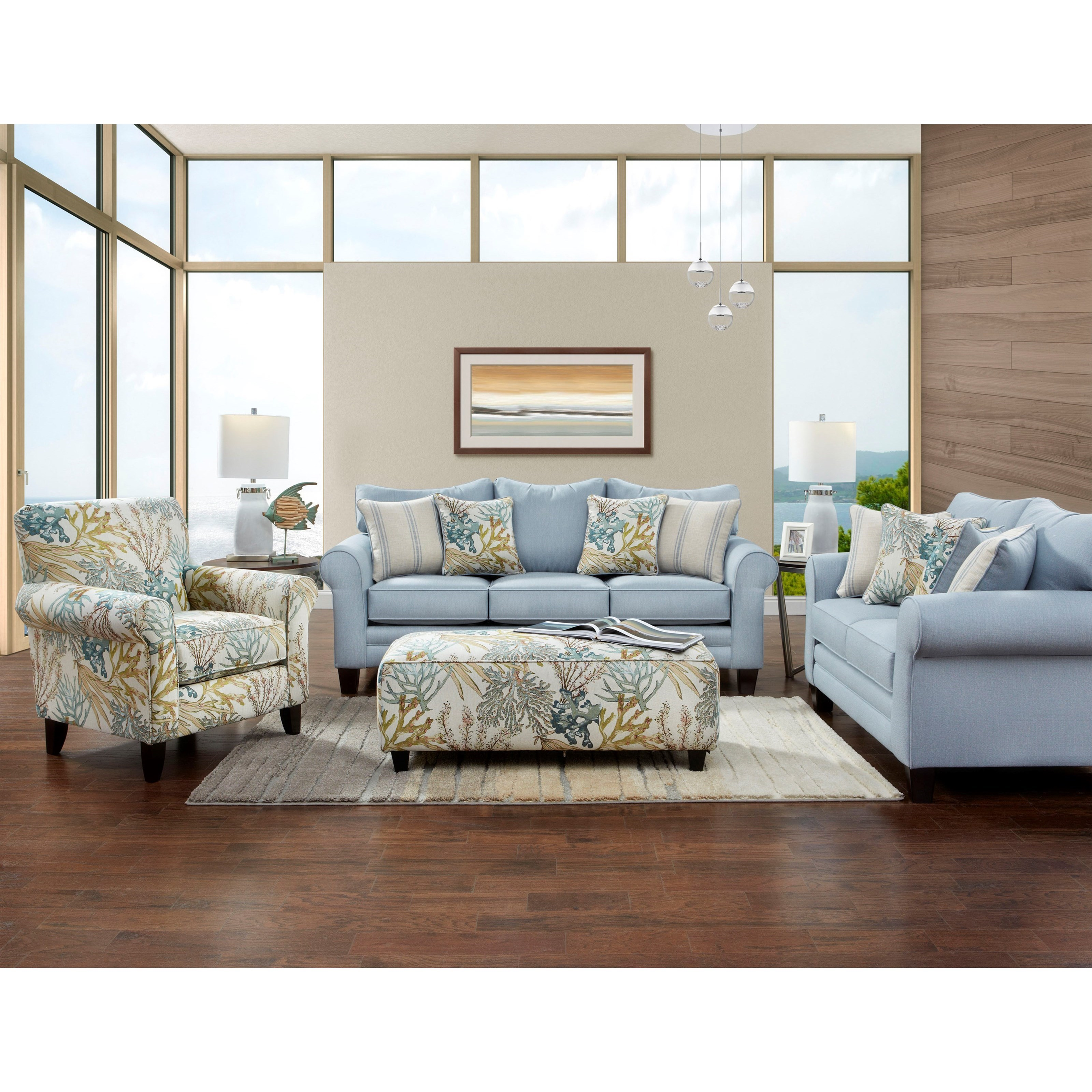 1140 LABYRINTH SKY Stationary Living Room Group by Fusion Furniture at Story & Lee Furniture