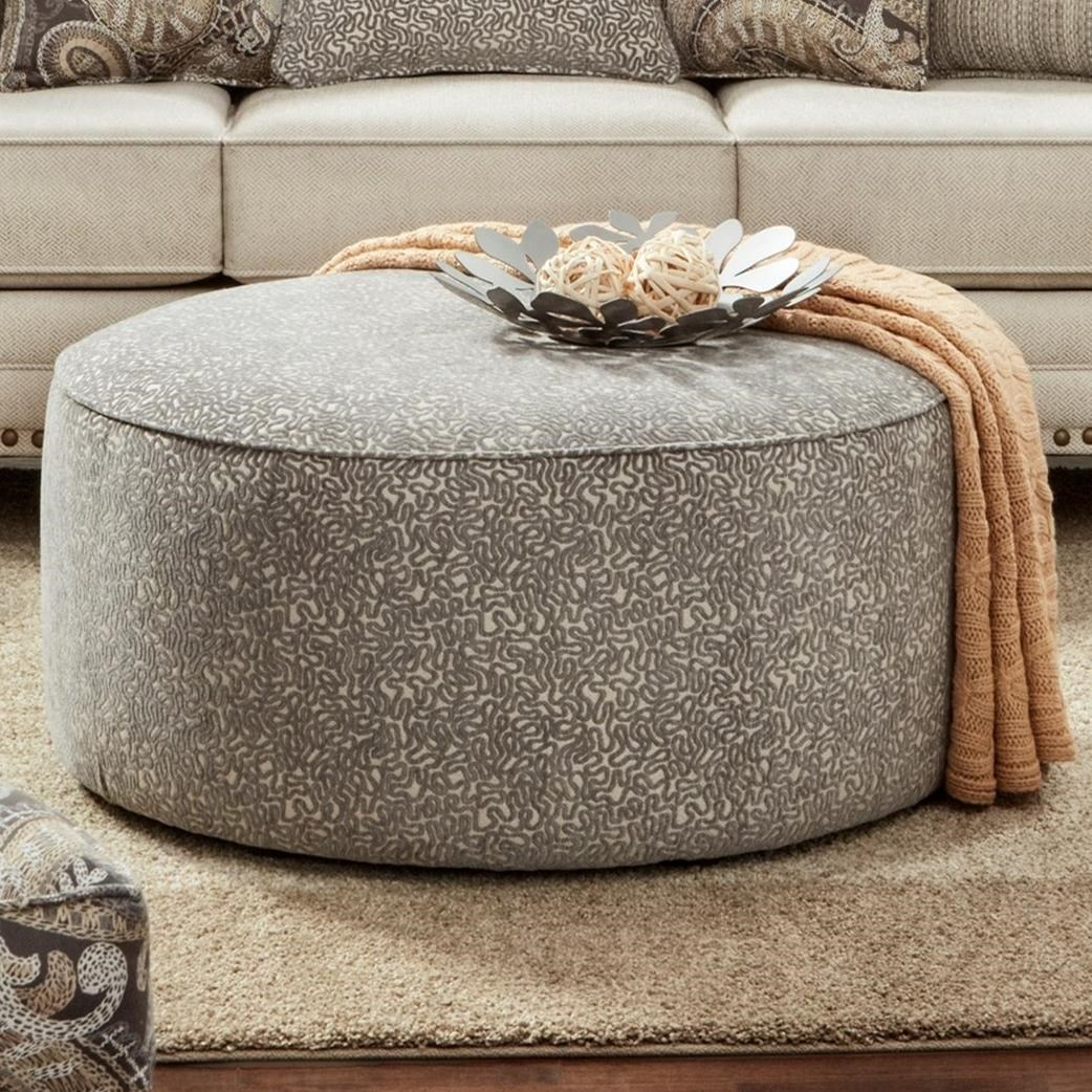 41CW-00KP TNT NICKEL (REVOLUTION) Cocktail Ottoman by Fusion Furniture at Wilson's Furniture