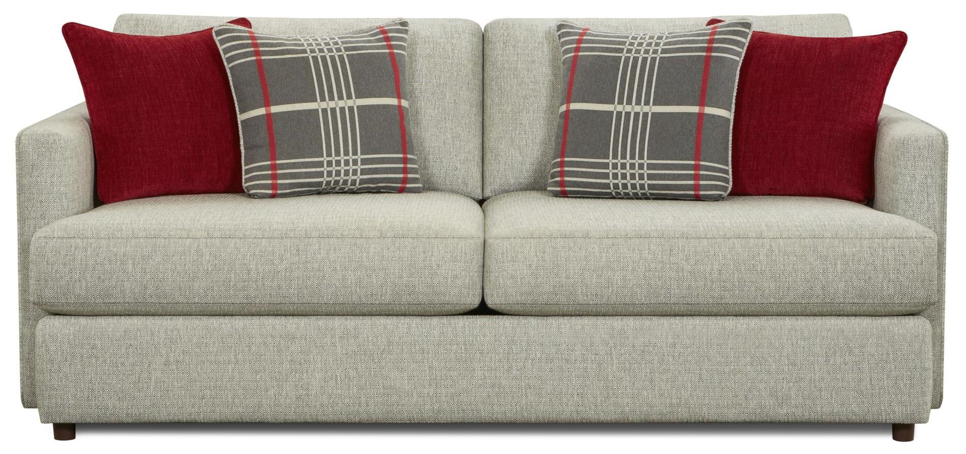 Fusion Furniture 1800 Contemporary Sofa with Track Arms