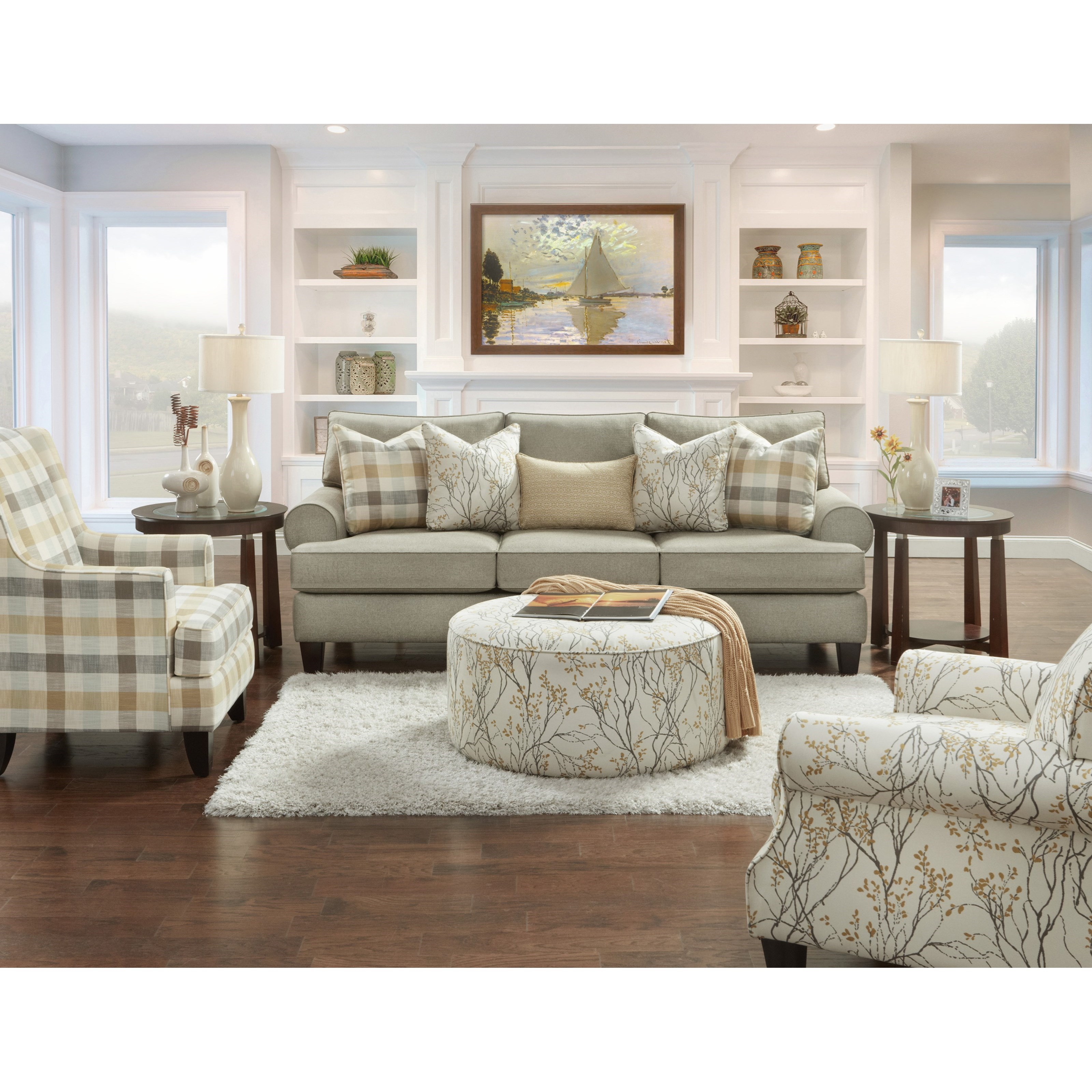 Fusion Furniture 260 Transitional Wing Back Chair Colder 39 S Furniture And Appliance Wing Chairs