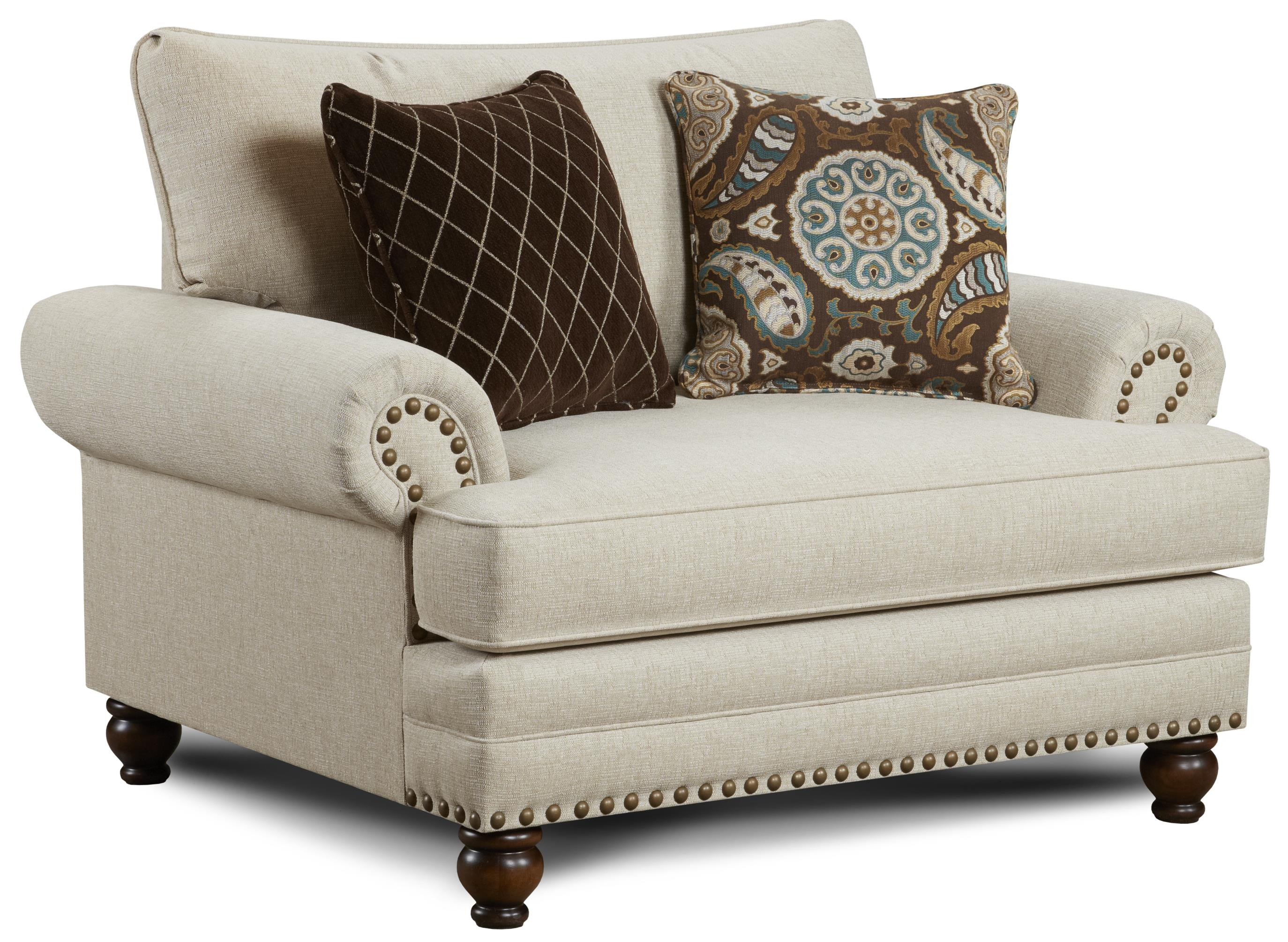 Haley jordan seabury 2822anna white linen traditional for Jordan linen modern living room sofa