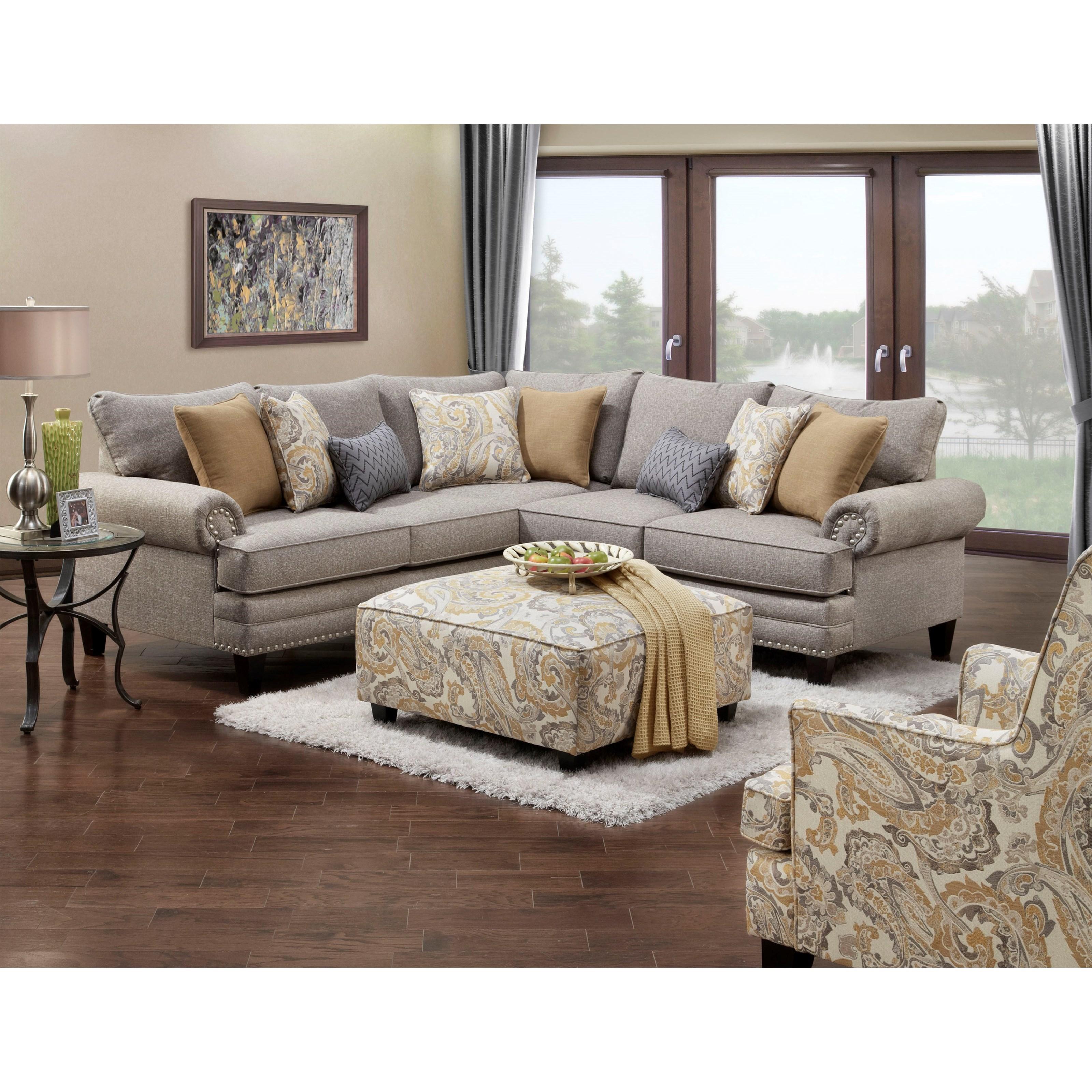 Haley Jordan 2836 2837 Stationary Living Room Group John V Schultz Furniture Stationary