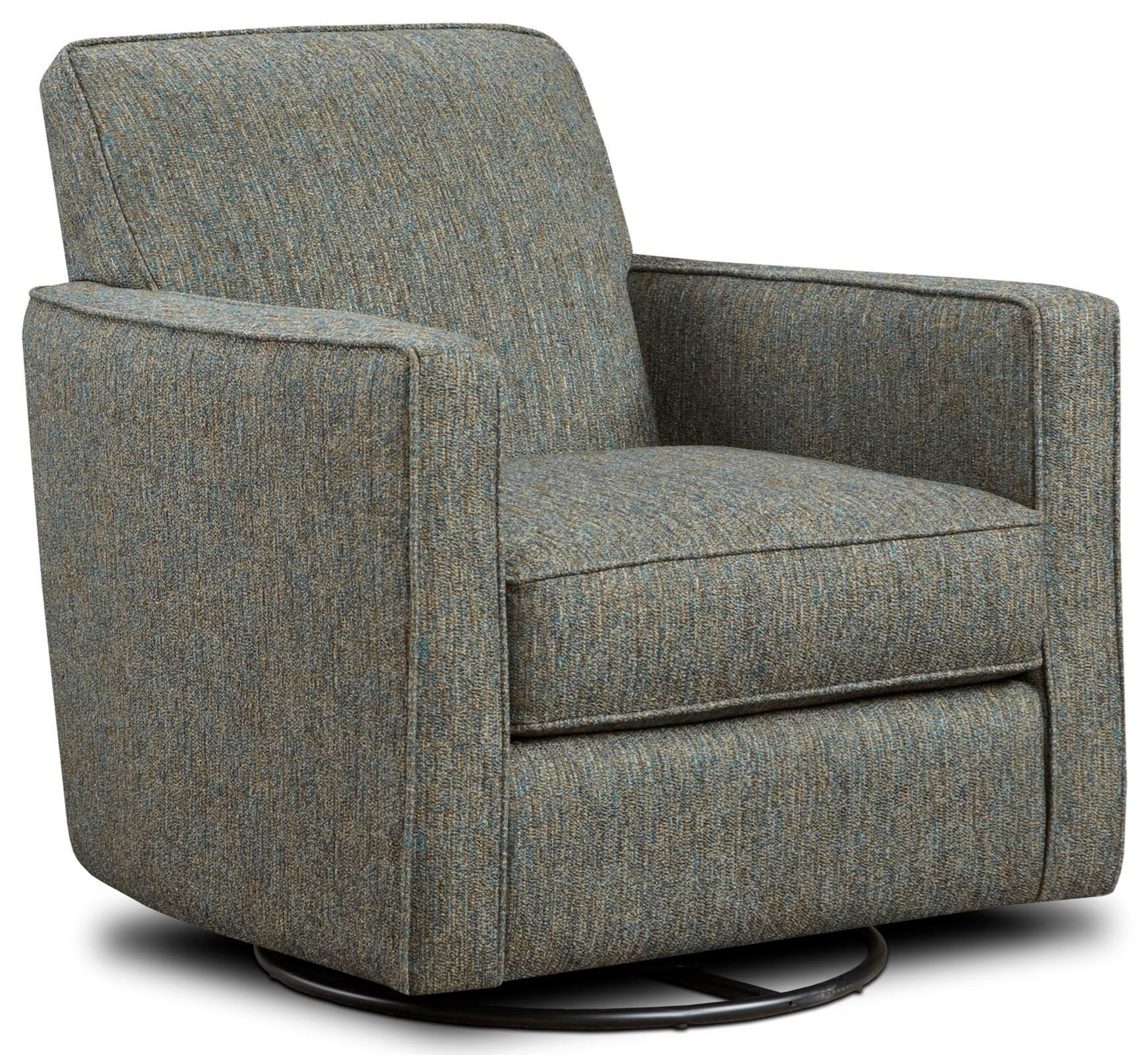 Fusion furniture 402 g contemporary swivel glider with for Swivel accent chairs with arms