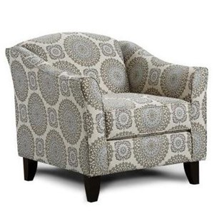 Fusion Furniture 622 Traditional Accent Chair With Rolled