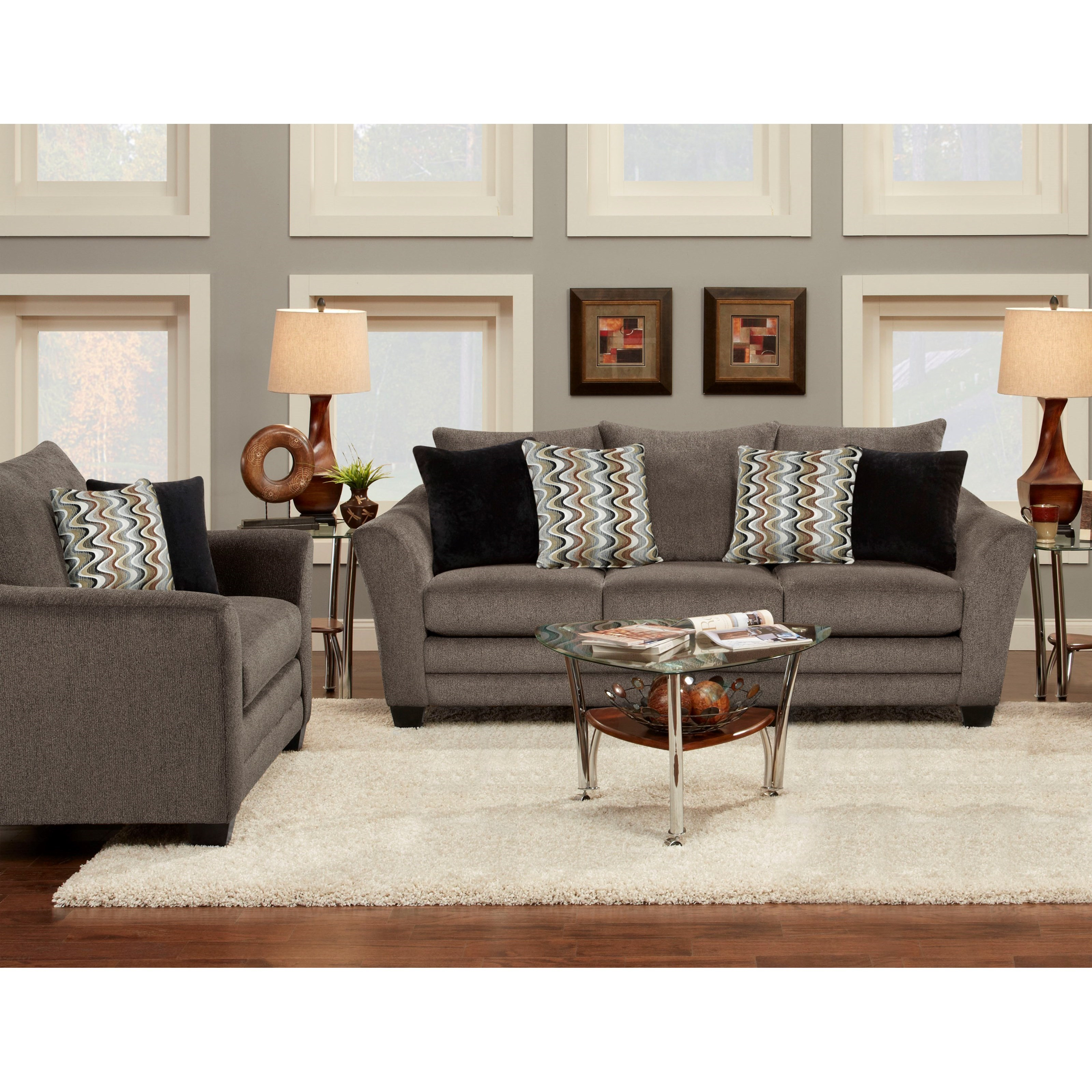 Fusion Furniture 9700 Stationary Living Room Group Adcock Furniture Stationary Living Room