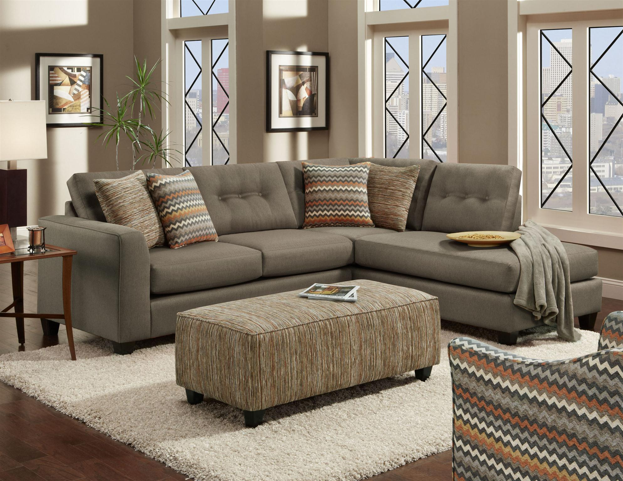 Fusion furniture fandango mocha stationary living room for Living room furniture groups