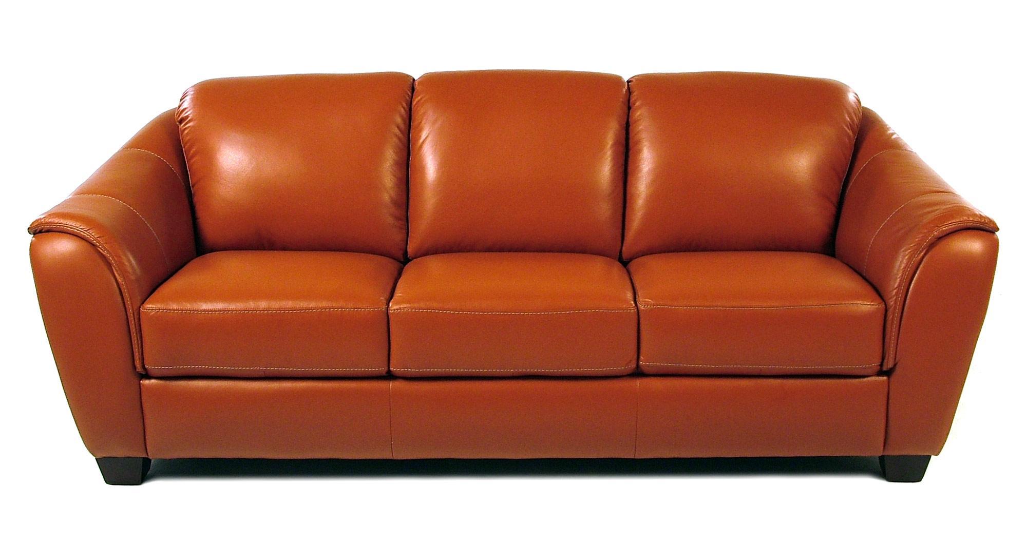 orange leather sofa roselawnlutheran. Black Bedroom Furniture Sets. Home Design Ideas
