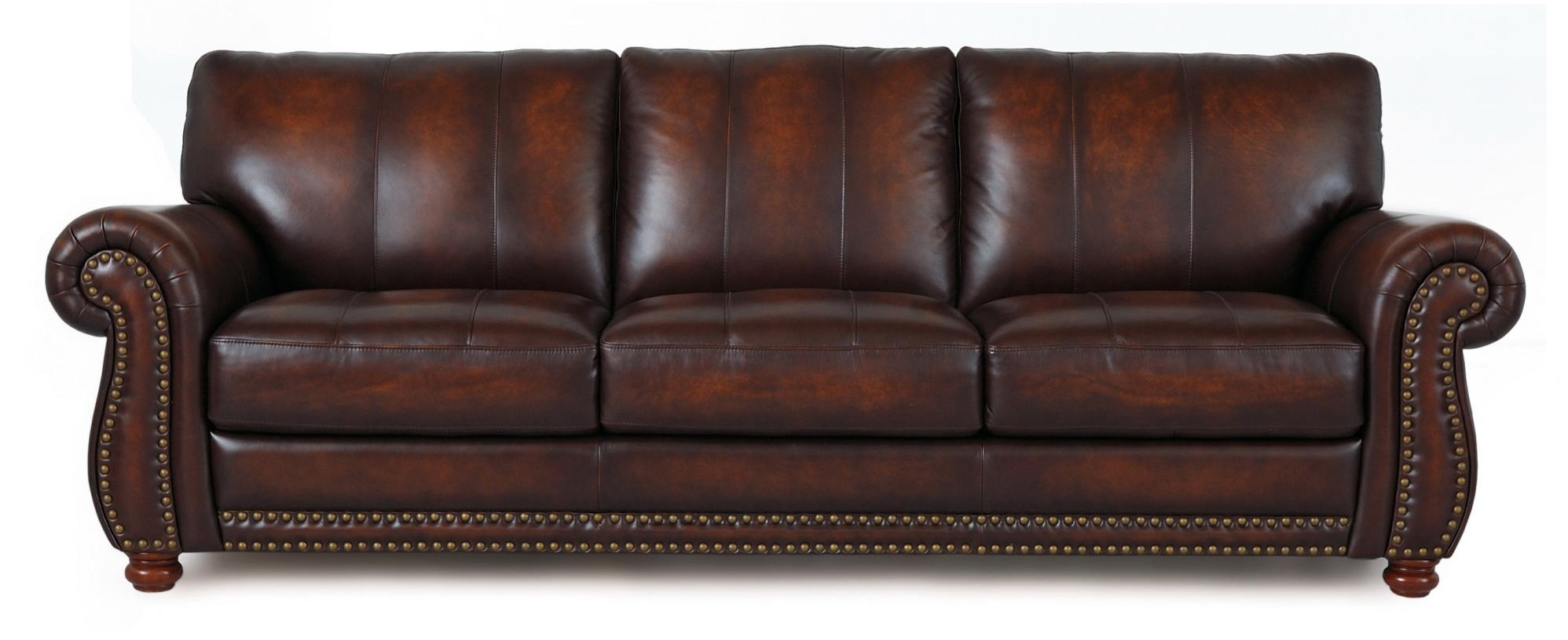 Futura leather futura leather 7530 traditional leather for Traditional leather sofas furniture