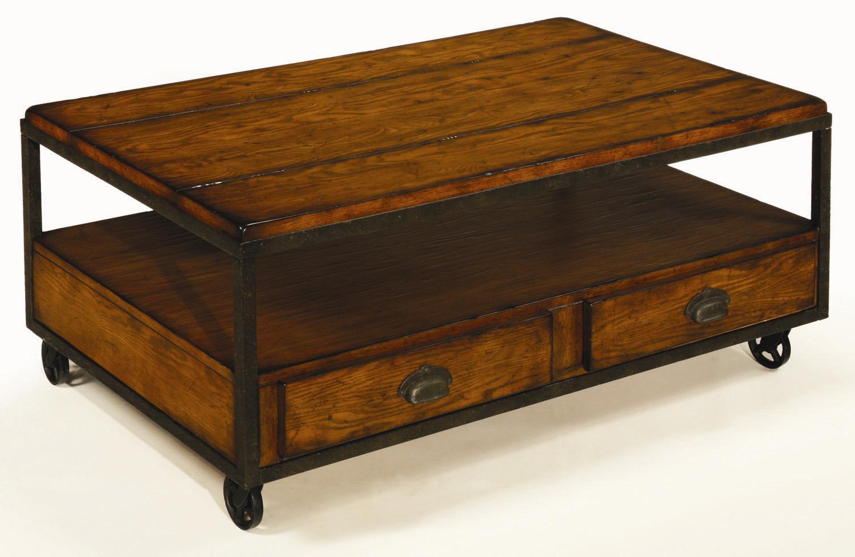 hammary baja rectangular storage cocktail table stoney. Black Bedroom Furniture Sets. Home Design Ideas