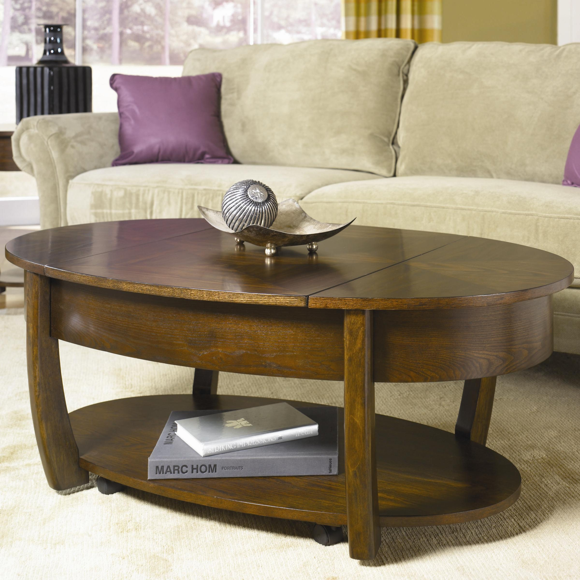 Hammary coffee table hammary modern theory round cocktail for Lazy boy coffee tables