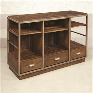 Hammary Flashback Parson Desk with Lift Top partment