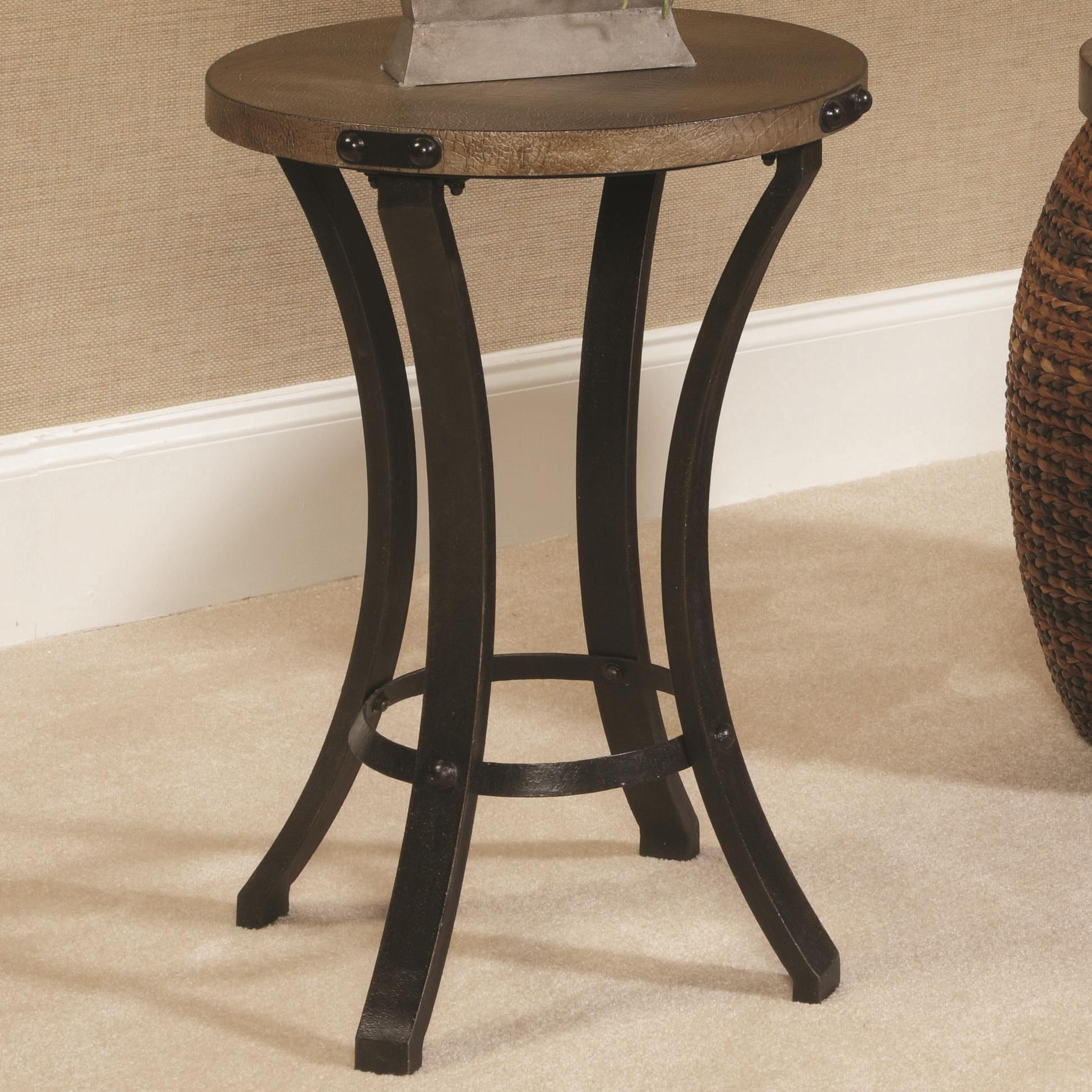 Hammary hidden treasures 090 370 metal base round accent Metal table base