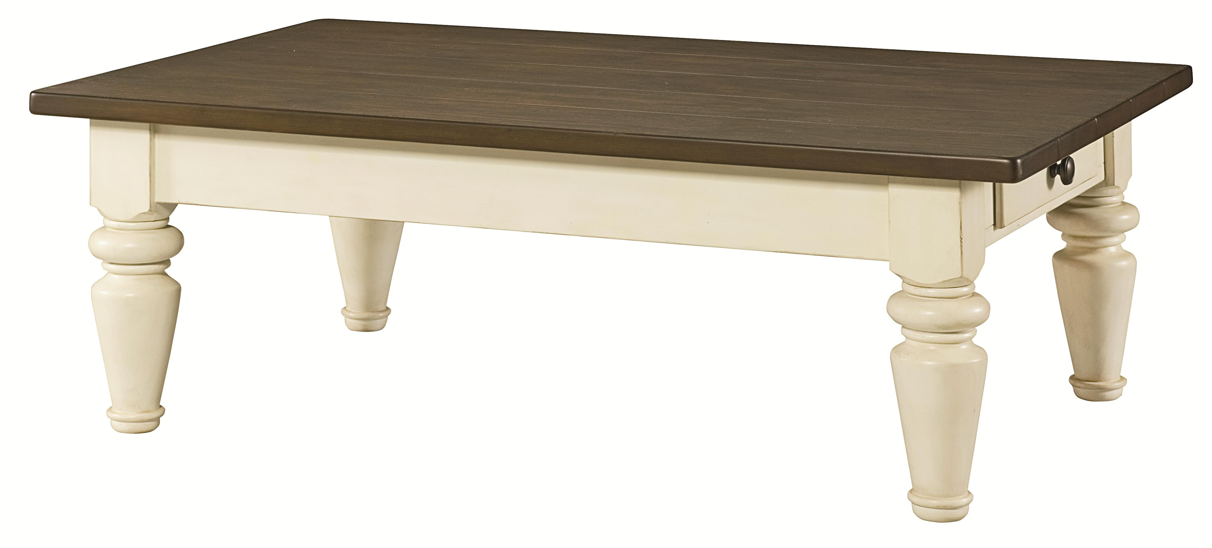 Hammary Heartland Rectangular Cocktail Table With Drawer On Each Side Wayside Furniture