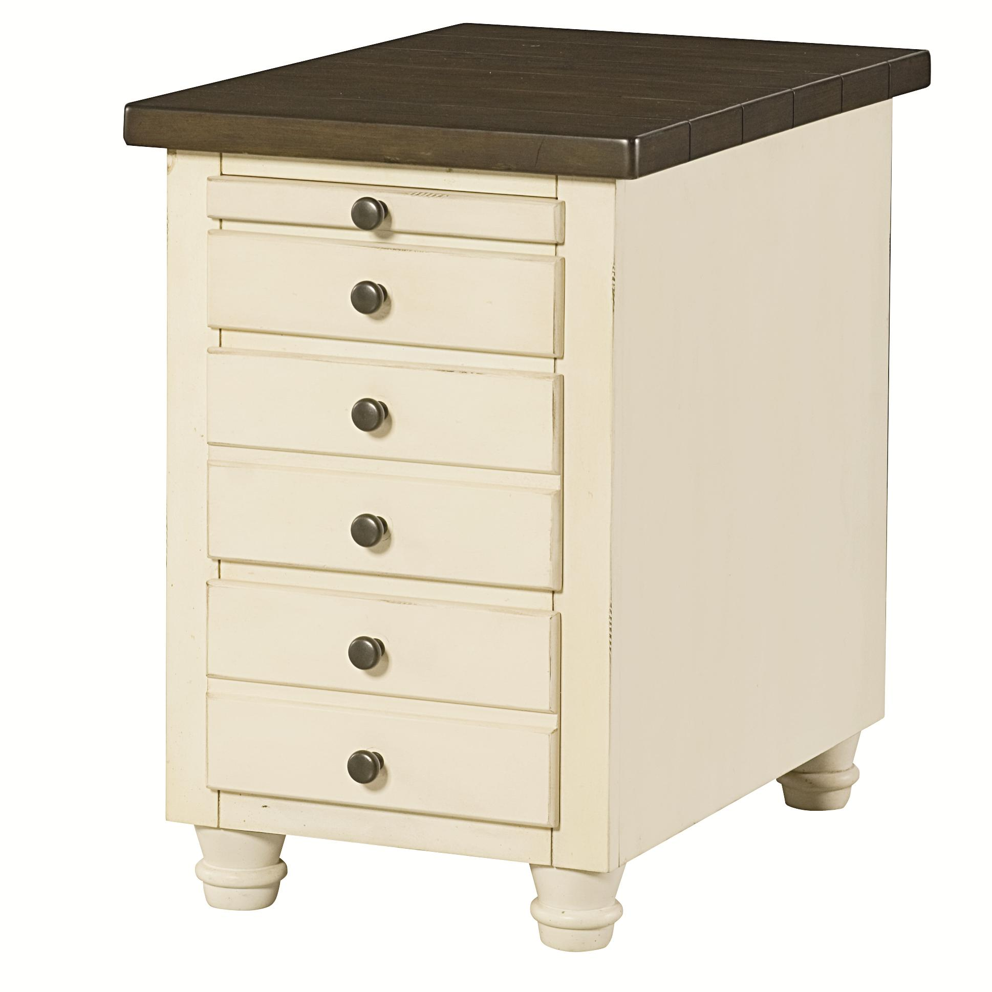 Hammary Heartland 346 916 Chairside Table Chest With 3