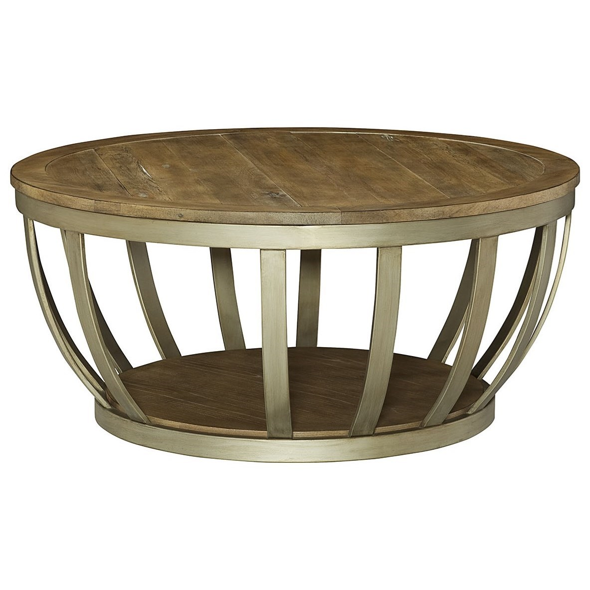 Modern Coffee Table Metal: Hammary Modern Theory Round Cocktail Table With Metal