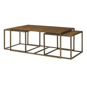 Hammary modern basics nesting cocktail tables homeworld for Modern nesting coffee tables
