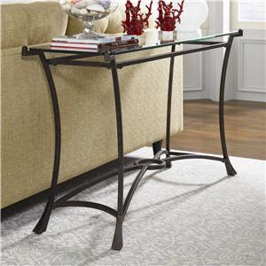 Hammary Sutton Contemporary Metal Rectangular End Table