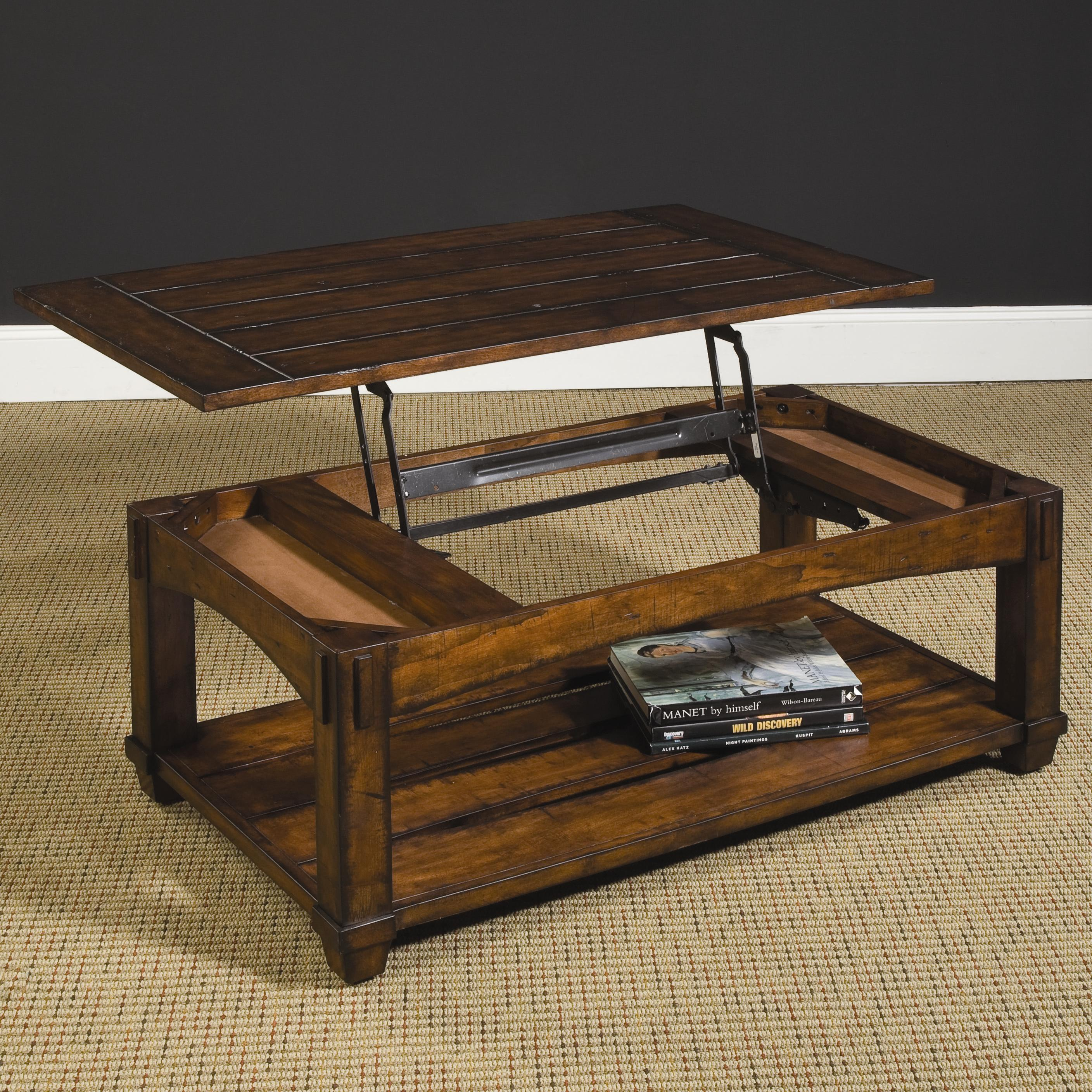 Hammary Tacoma 049 910 Rectangular Mission Lift Top Cocktail Table Dunk Bright Furniture