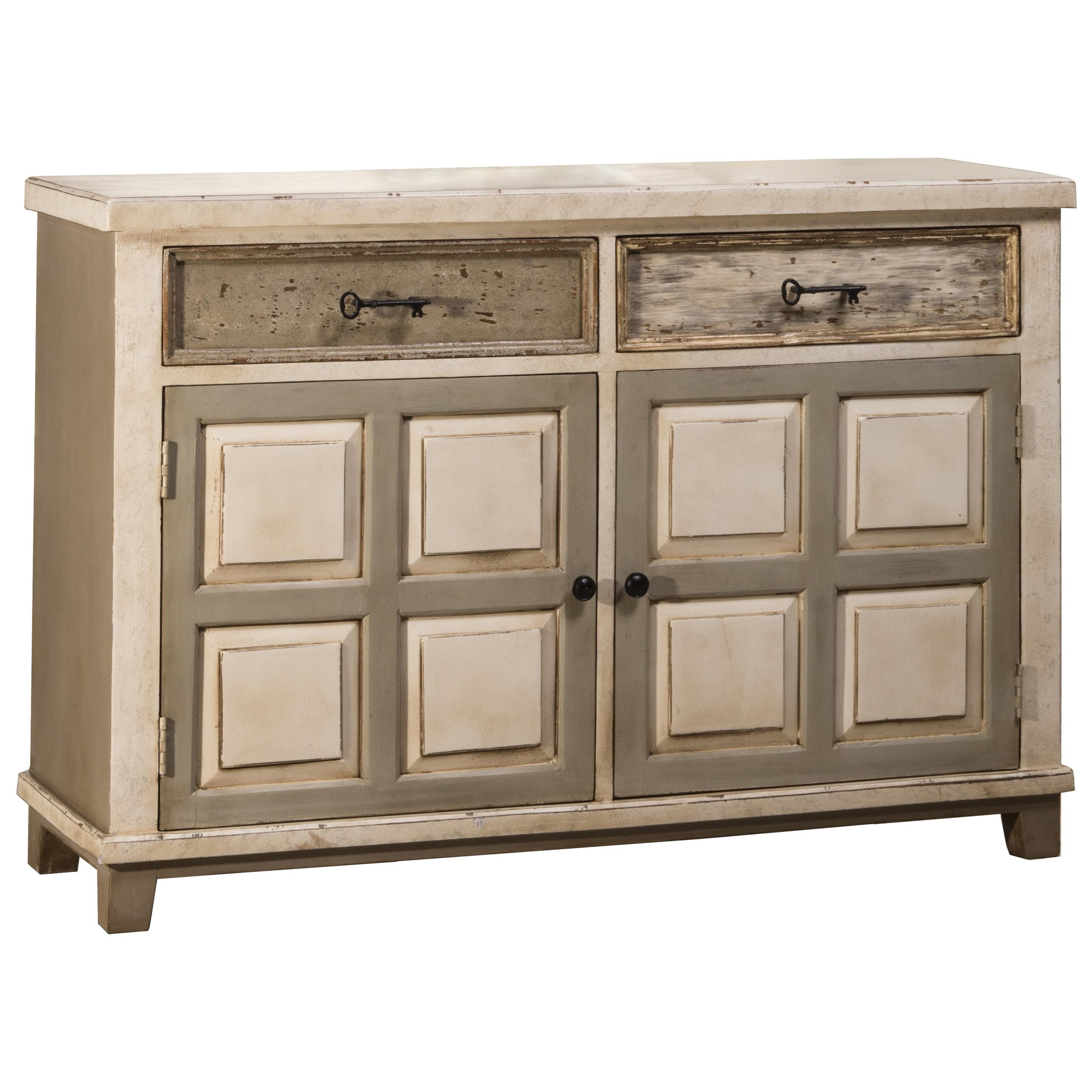 Accents console table with two door storage and light for Sofa table storage