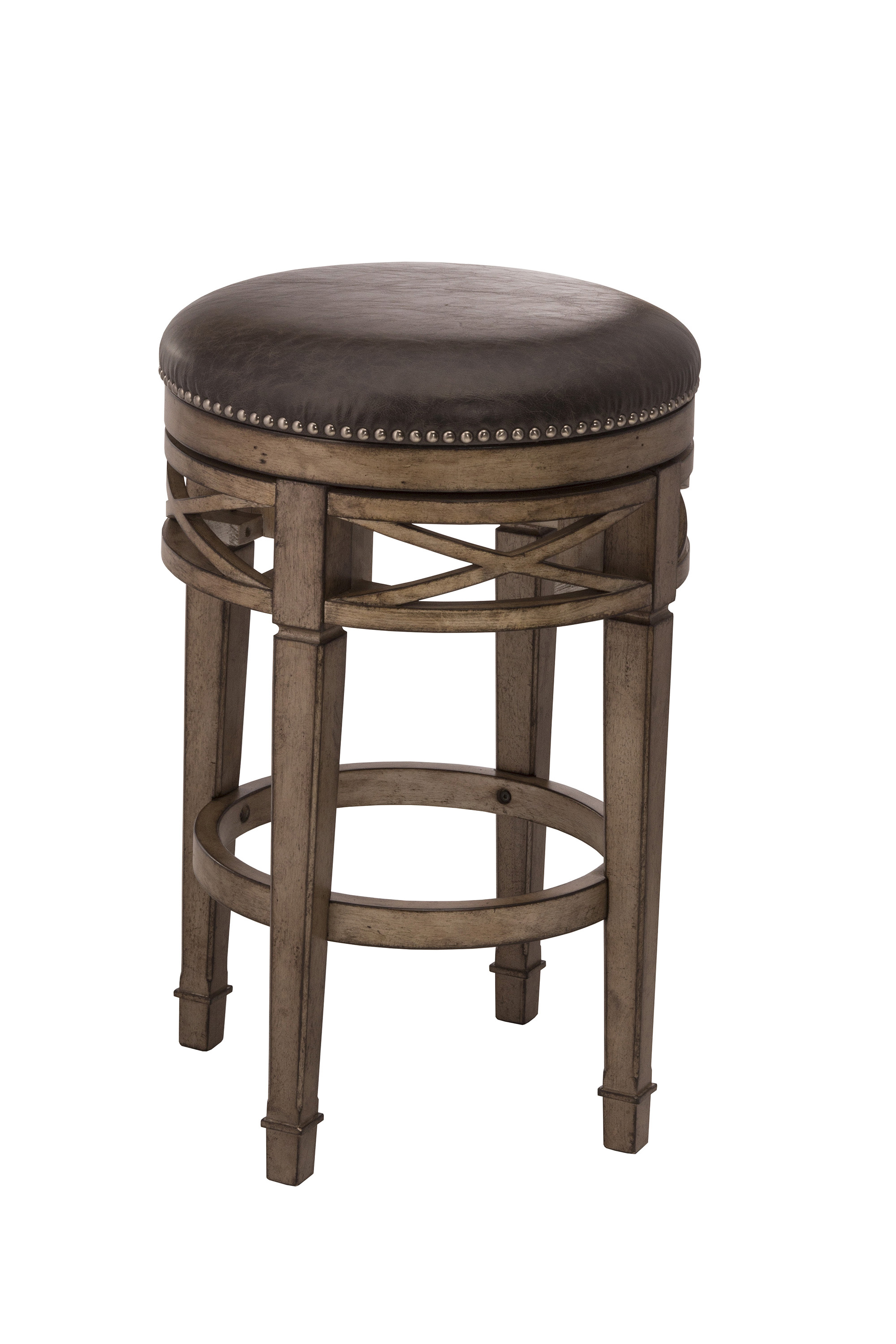 Hillsdale Backless Bar Stools Upholstered Backless Swivel