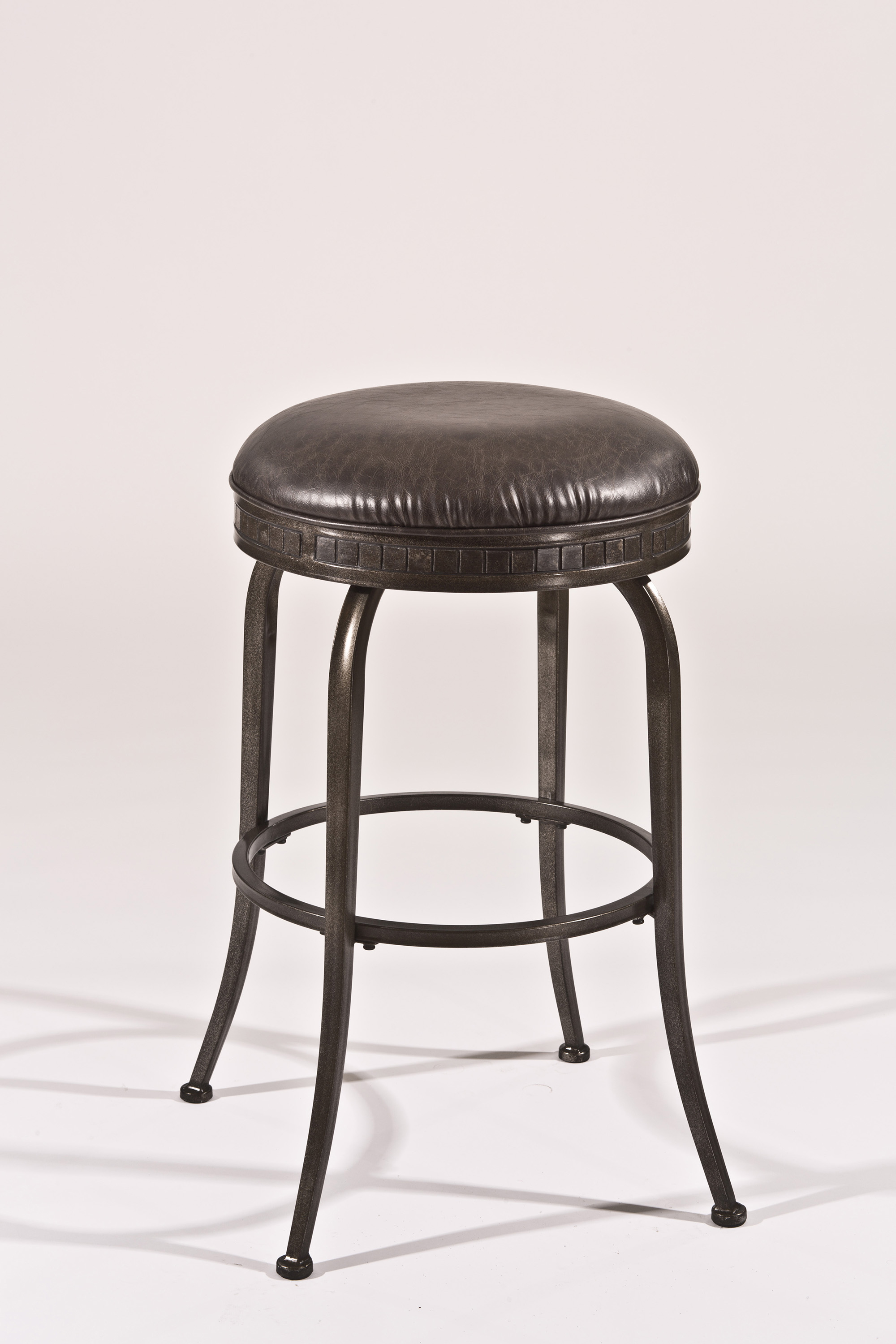 Hillsdale backless bar stools 5691 830 black backless for Backless bar stools