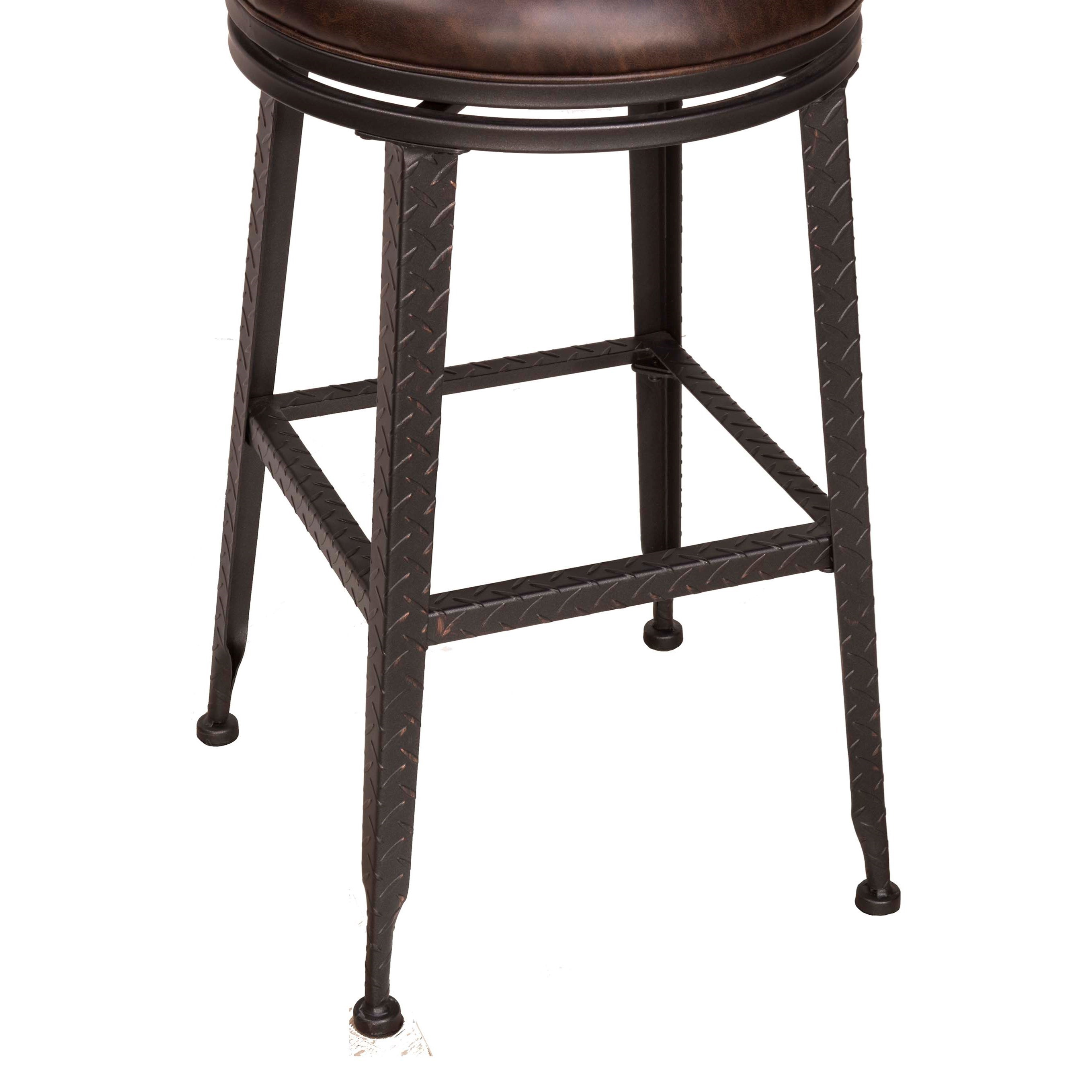 Hillsdale backless bar stools black metal with copper for Black counter stools