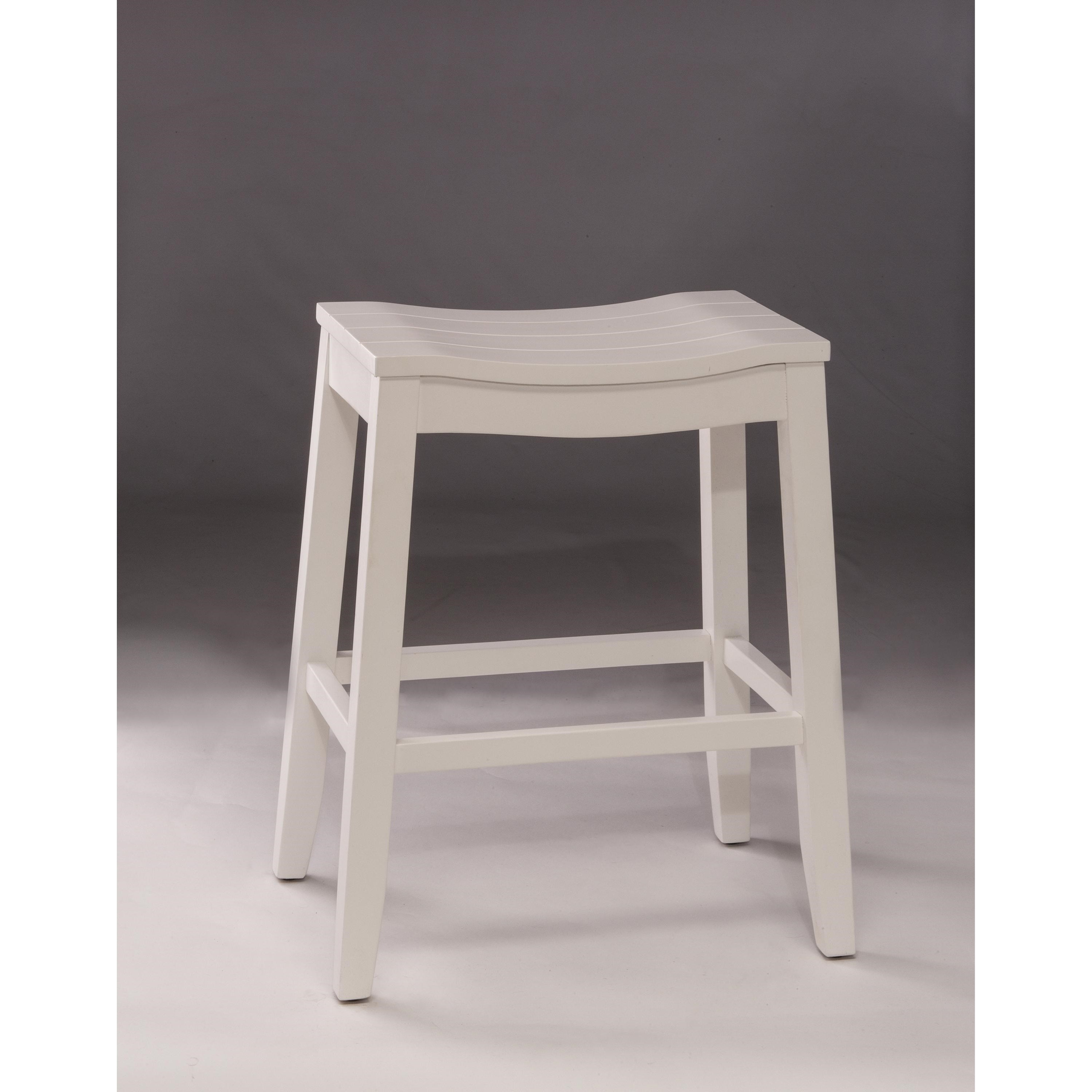 Hillsdale Backless Bar Stools 5947 826 White Backless Non