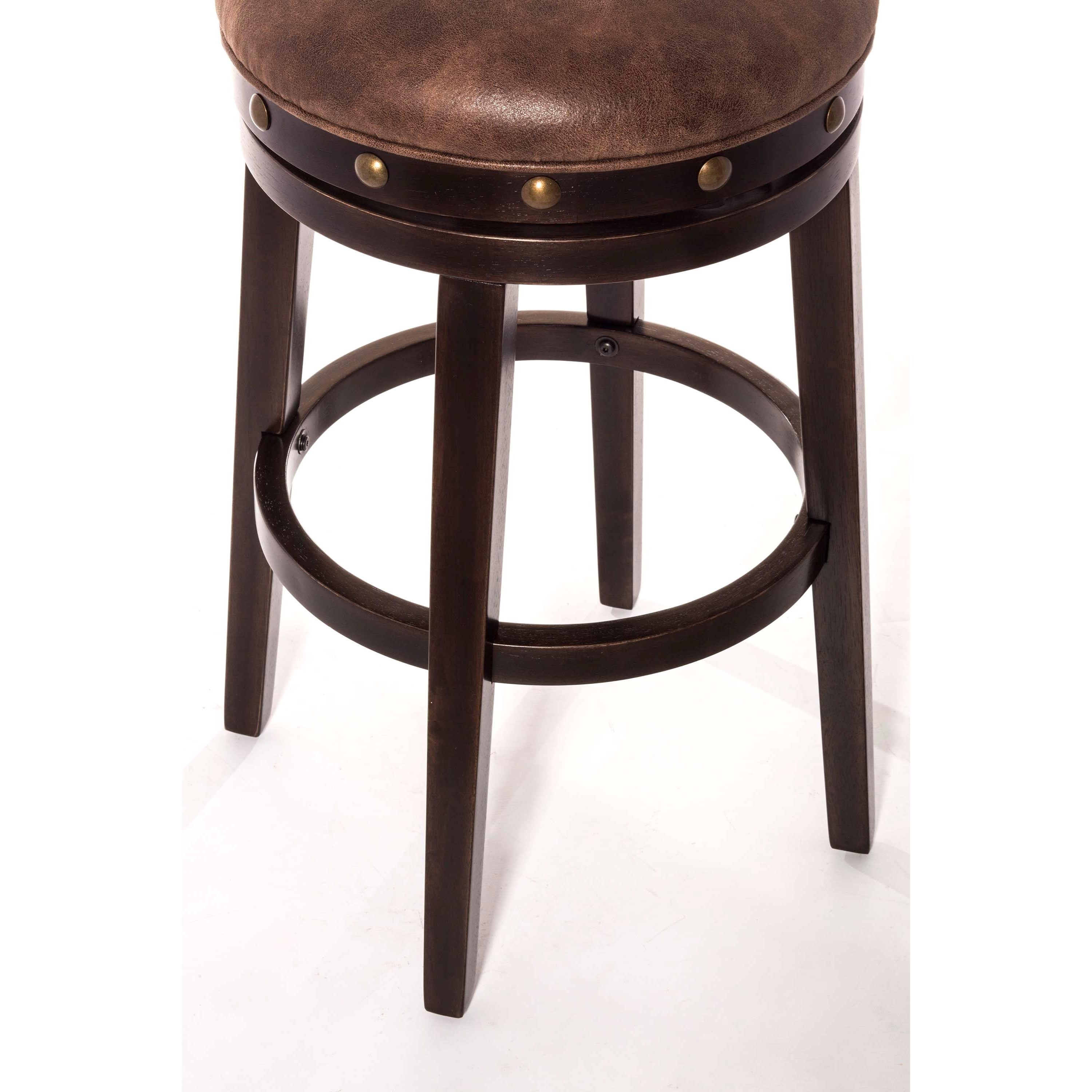Hillsdale Backless Bar Stools Streamlined Deep Smoke