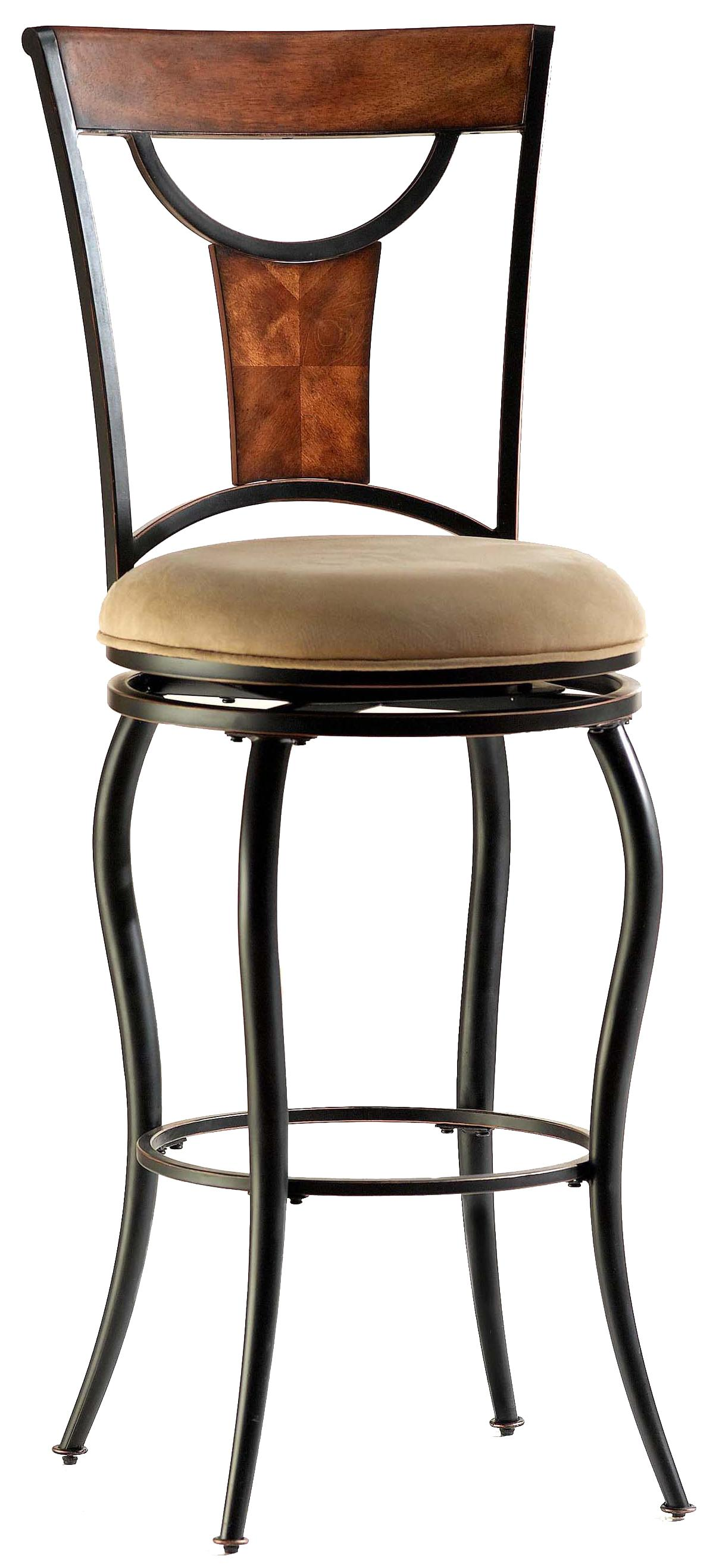 Hillsdale metal stools 26 counter height pacifico stool for Bar stool height