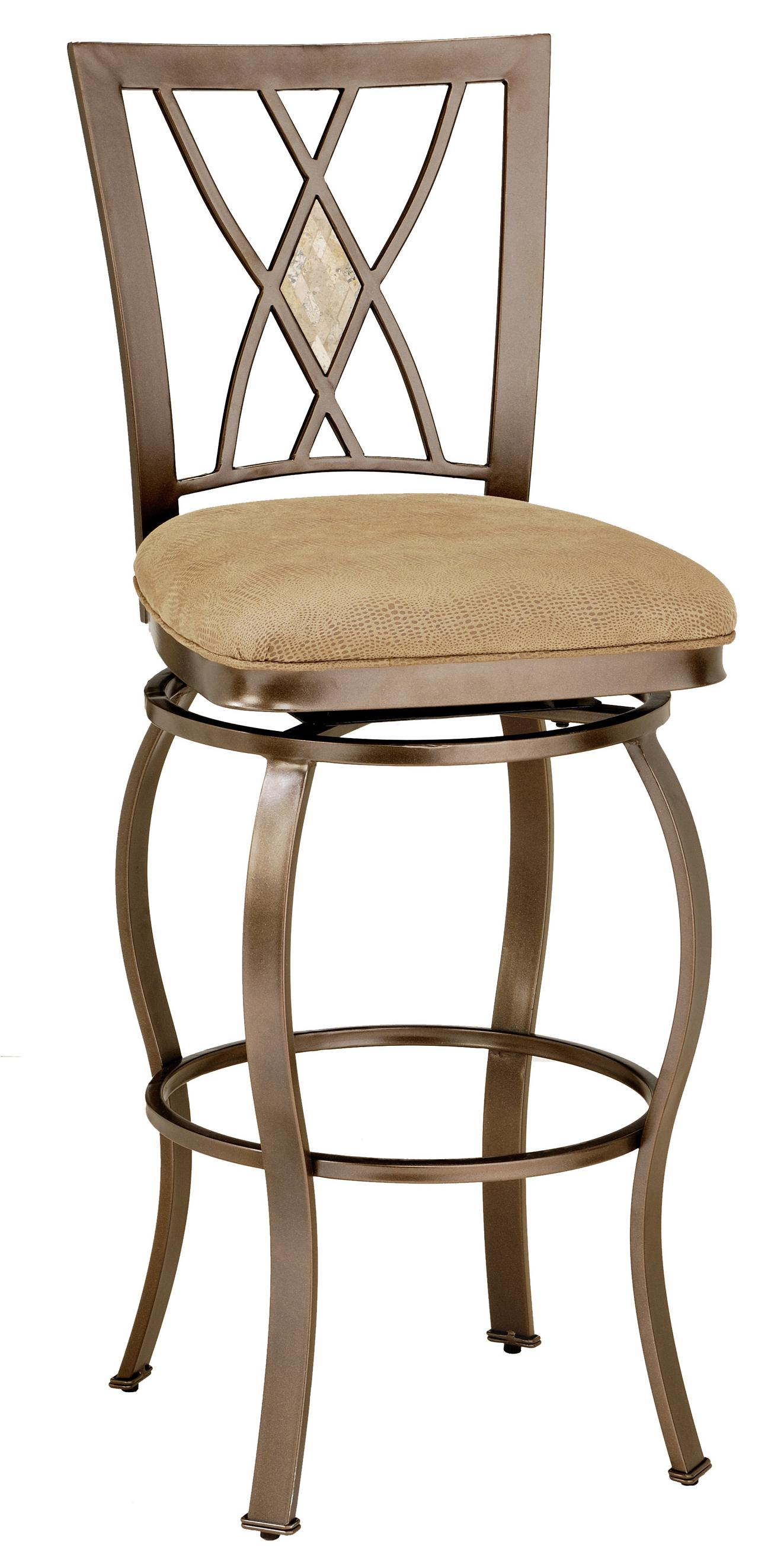 Metal Stools 30 Bar Height Brookside Diamond Fossil Back