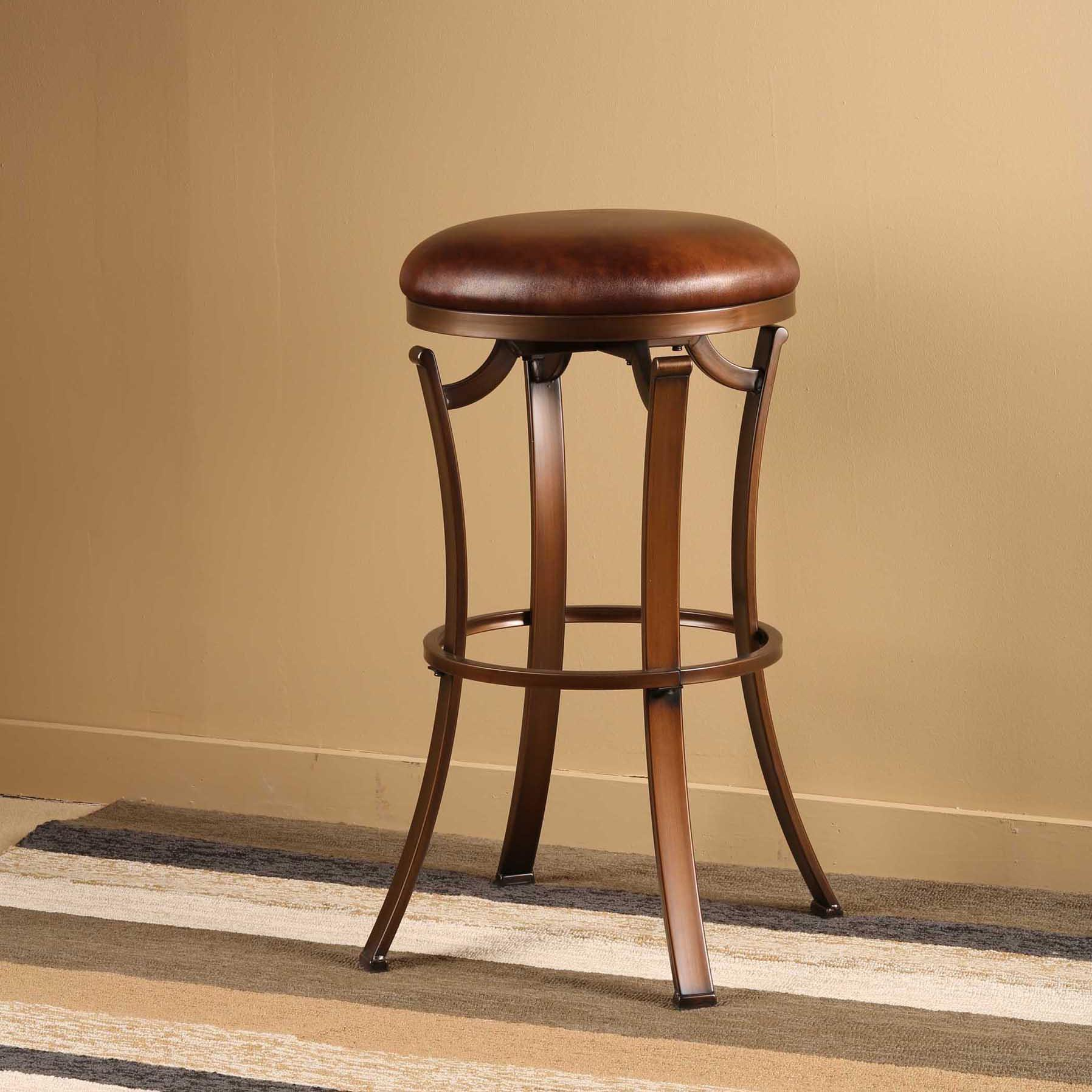 Hillsdale metal stools kelford backless bar stool w for Backless bar stools
